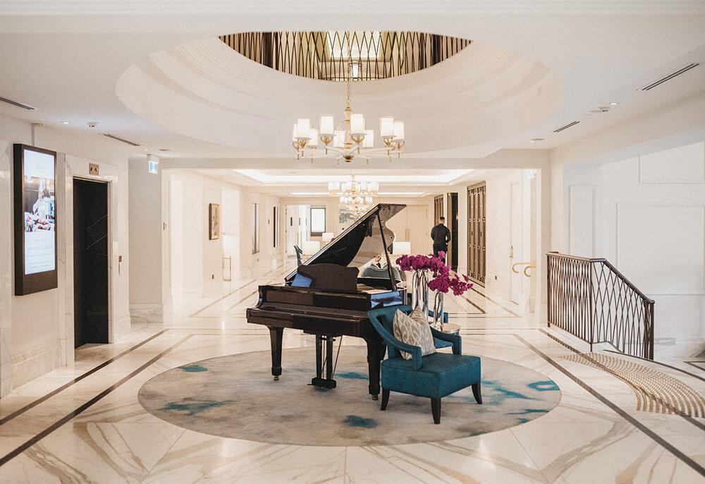 The prettiest lobby at The Langham Sydney