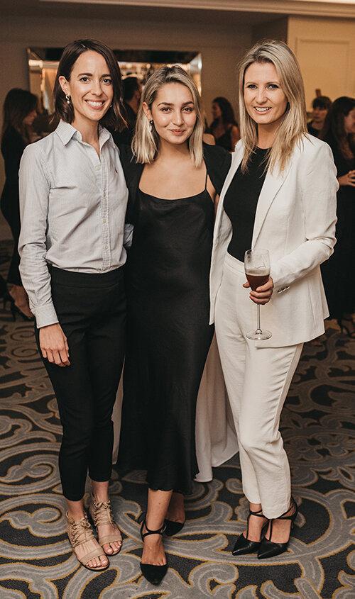 Estee Lauder Group's Cara Stagg, Lara Blackwell and The Langham Sydney's Laura-Jane Hawkins