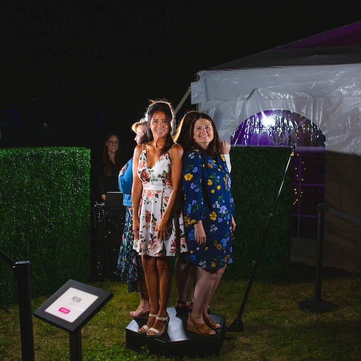 360 video booth at an outdoor event
