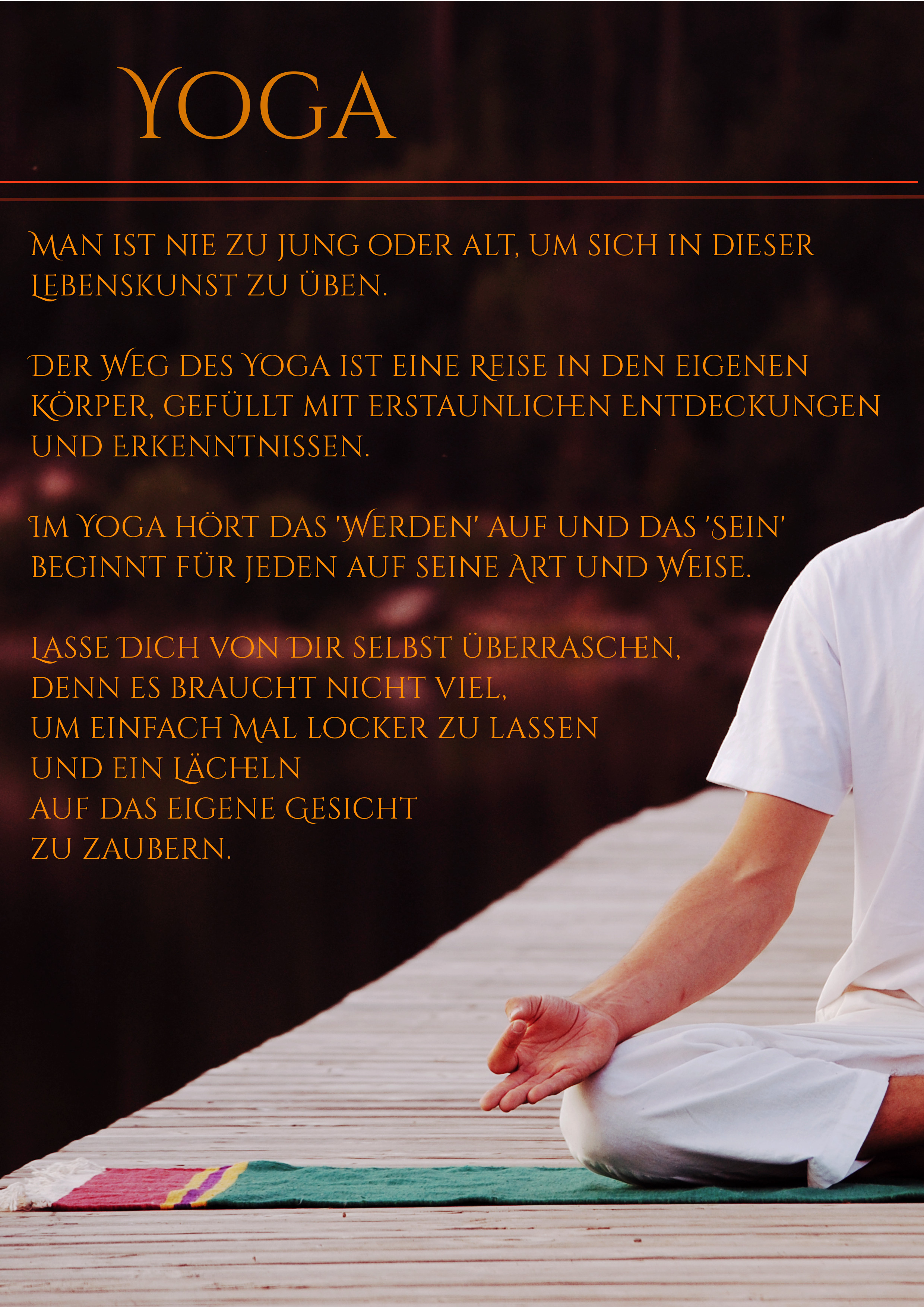 YogaPhilosophie, Lebenskunst & Gedanken -
