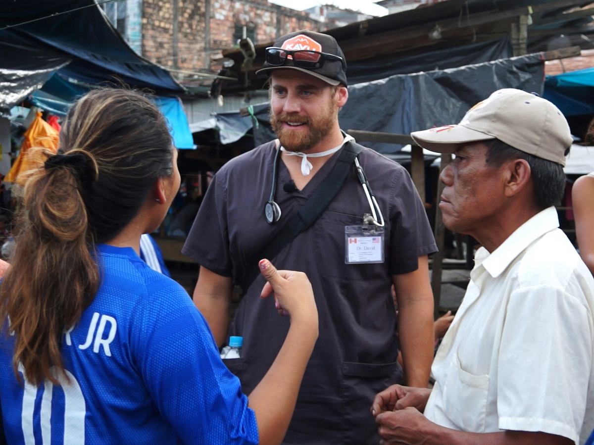 Recruiting patients in the Belen district of Iquitos, Peru
