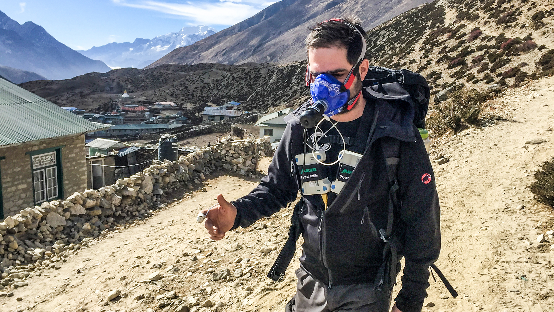 Testing in Dingboche, Nepal