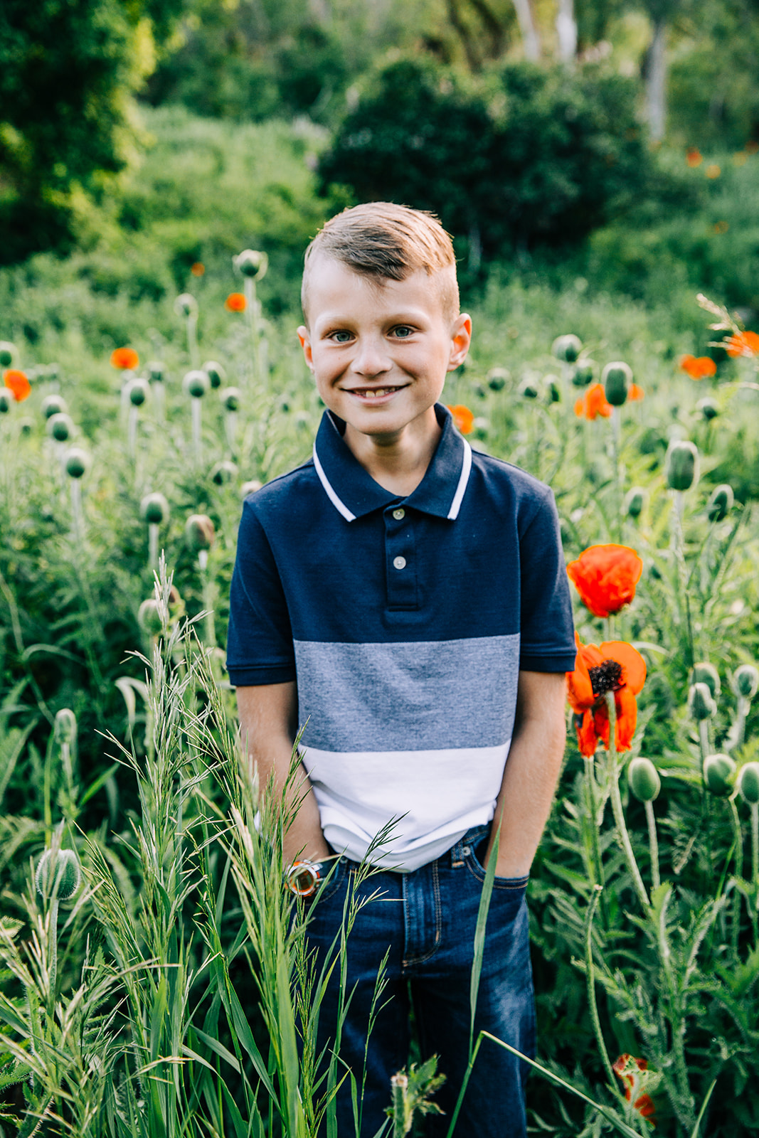 Portraits of all the young kids during family pictures taken in Mantua Utah by Bella Alder Photography, professional family photographer in Logan, Utah, and available for travel all over Utah! #bellaalderphoto #familyphotog #familyphotography #familypictures #familyphotos #outfitinspo #familyoutfits #poppyfields #northernutahfamilyphotographer #utahfamilyphotographer #cachevalleyfamilyphotographer