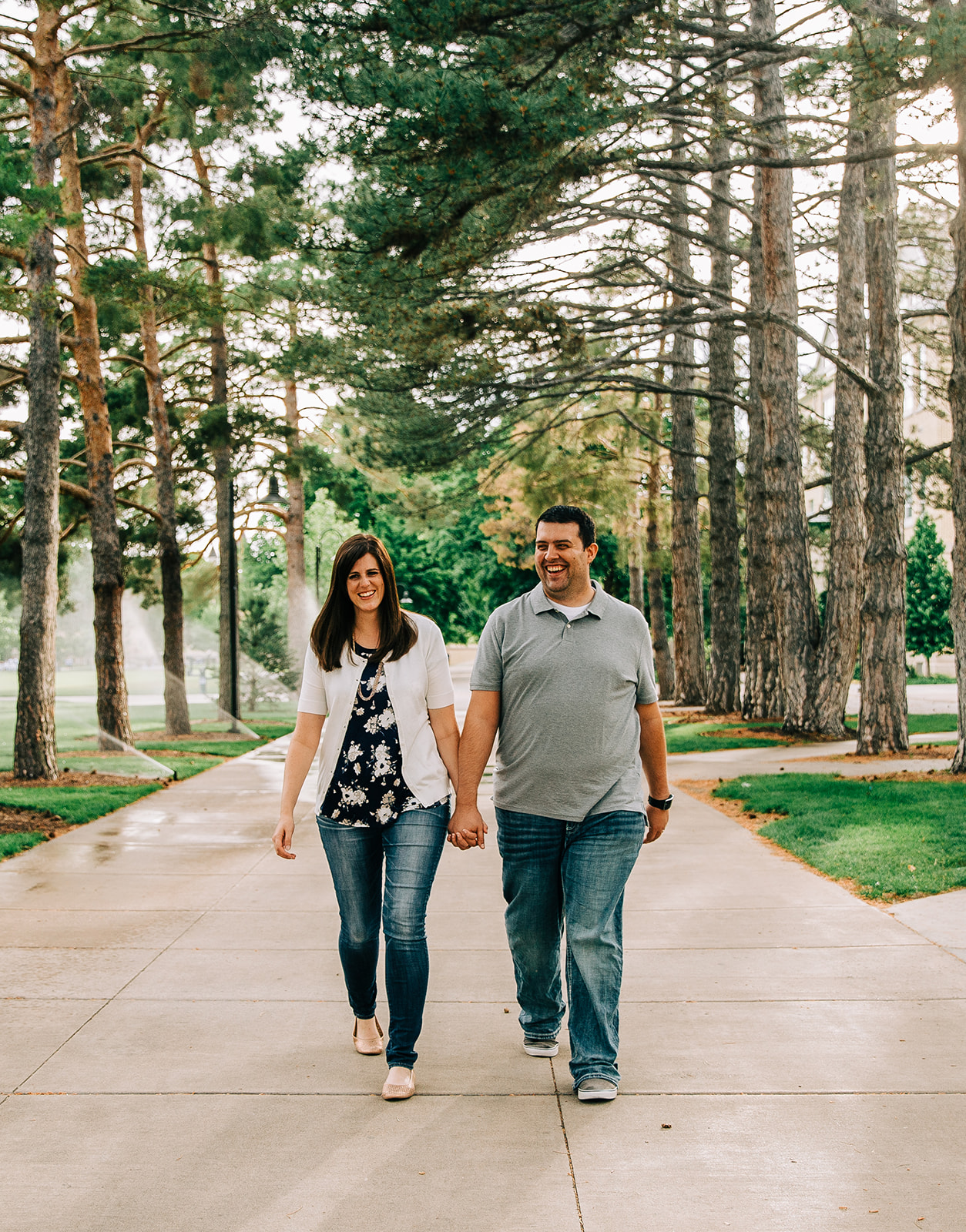 Engagement photo shoot on a college campus Logan, Utah engagement photographer Bella Alder Photography professional wedding photographer in Cache Valley and the surrounding areas #bellaalderphoto #engagements #ldsengagements #engagementsession #engagementphotographer #ldsphotographer #loganutahphotographer