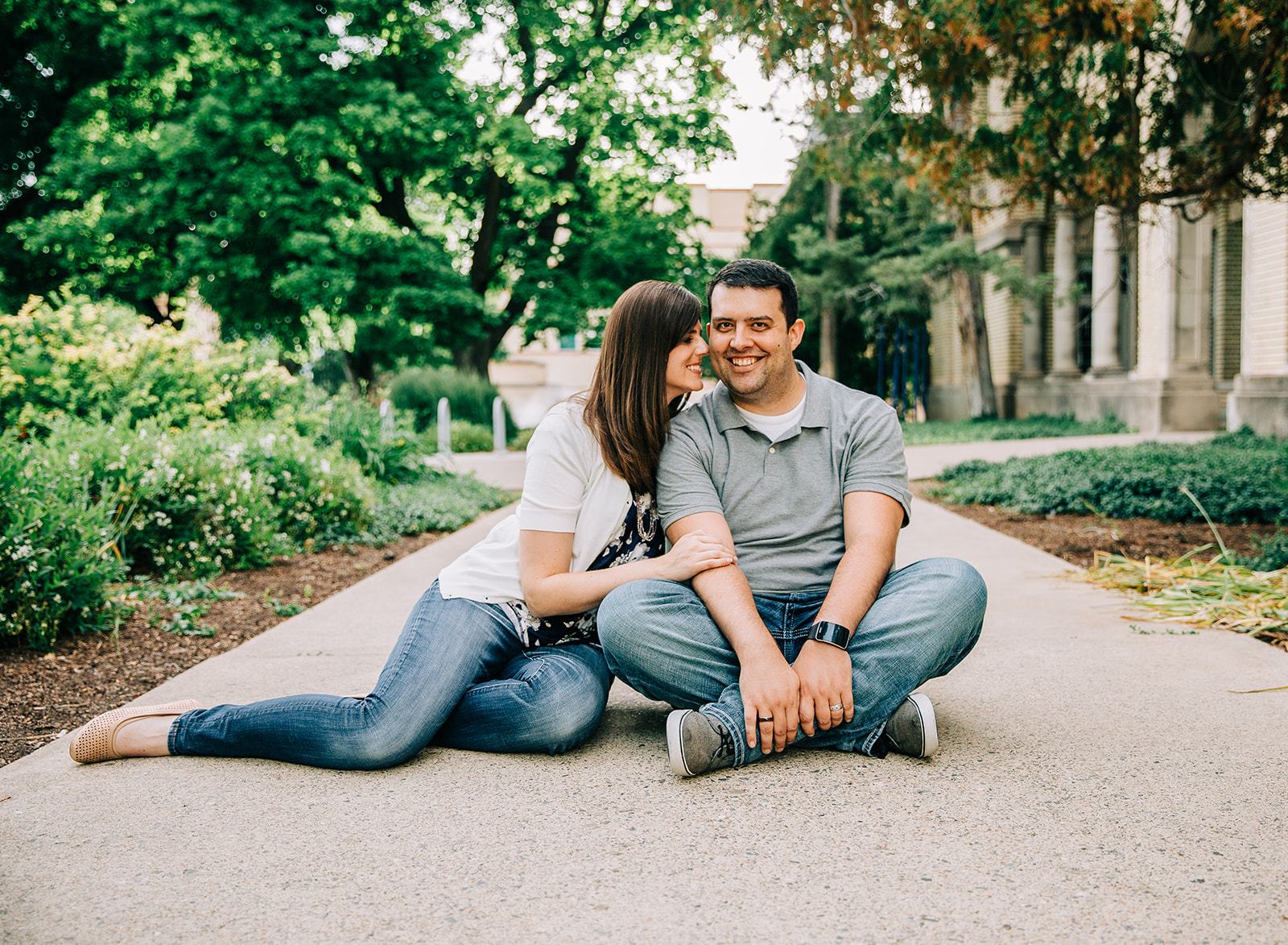 Non-cheesy engagement pictures with relaxed and natural posing by professional engagement photographer Bella Alder in Logan, Utah on the Utah State University campus. #bellaalderphoto #engagements #ldsengagements #engagementsession #engagementphotographer #ldsphotographer #loganutahphotographer