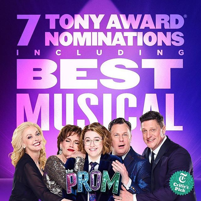 SO proud of Tony nominee @thejoegrandy and all the unruly hearts that brought @theprommusical to Broadway! Congratulations on an incredible 7 Tony Nominations including Best Musical!! Go see this beautiful show it will stay in your heart forever! 💗