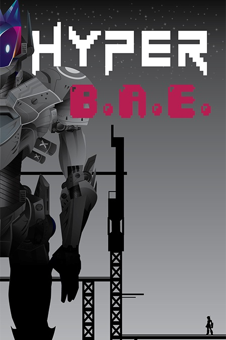 Hyper:BAE - Hyper: BAE is the adventure of Hazel, an engineer who has set out to save her part alien part robot friend R.O.M.E. from being made into a weapon by the very organization she works for. R.O.M.E. is being prepped for a weapons test and is heavily restrained and anchored to the scaffolding around it. Hazel must go against her obligations to the organization and break into the launch site to rescue R.O.M.E. all while avoiding its many elaborate security features. Run, jump and double jump through an intimidating web of fatality-inducing bullets spewed by a cadre of angry robotic sentry guns as you make your way up a strangely designed structure which should definitely have an elevator but you're kind of in a hurry.