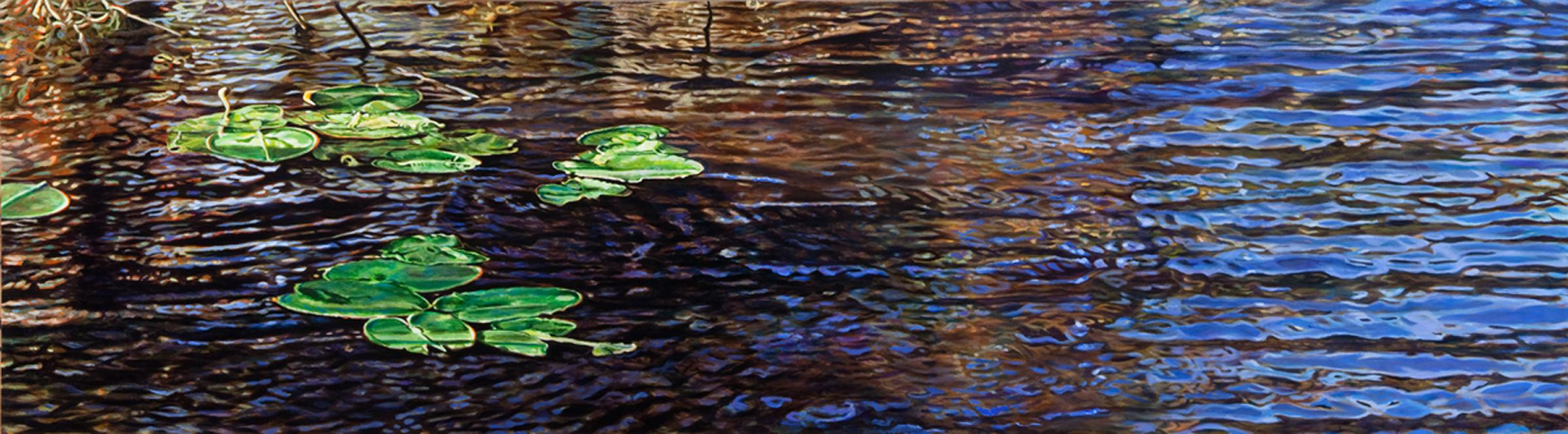 "Undulation , acrylic on canvas, 24 x 86"", 2011"