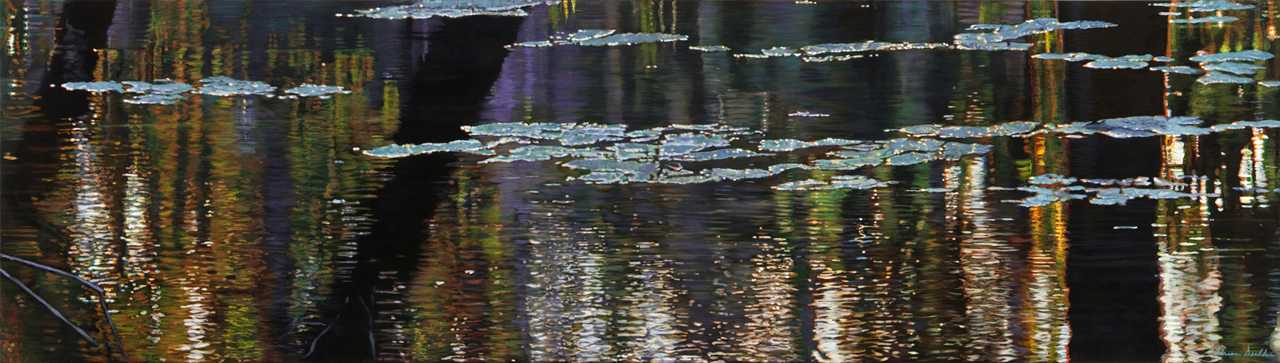 """Immersion , acrylic, 24"""" x 96"""", 2013"""