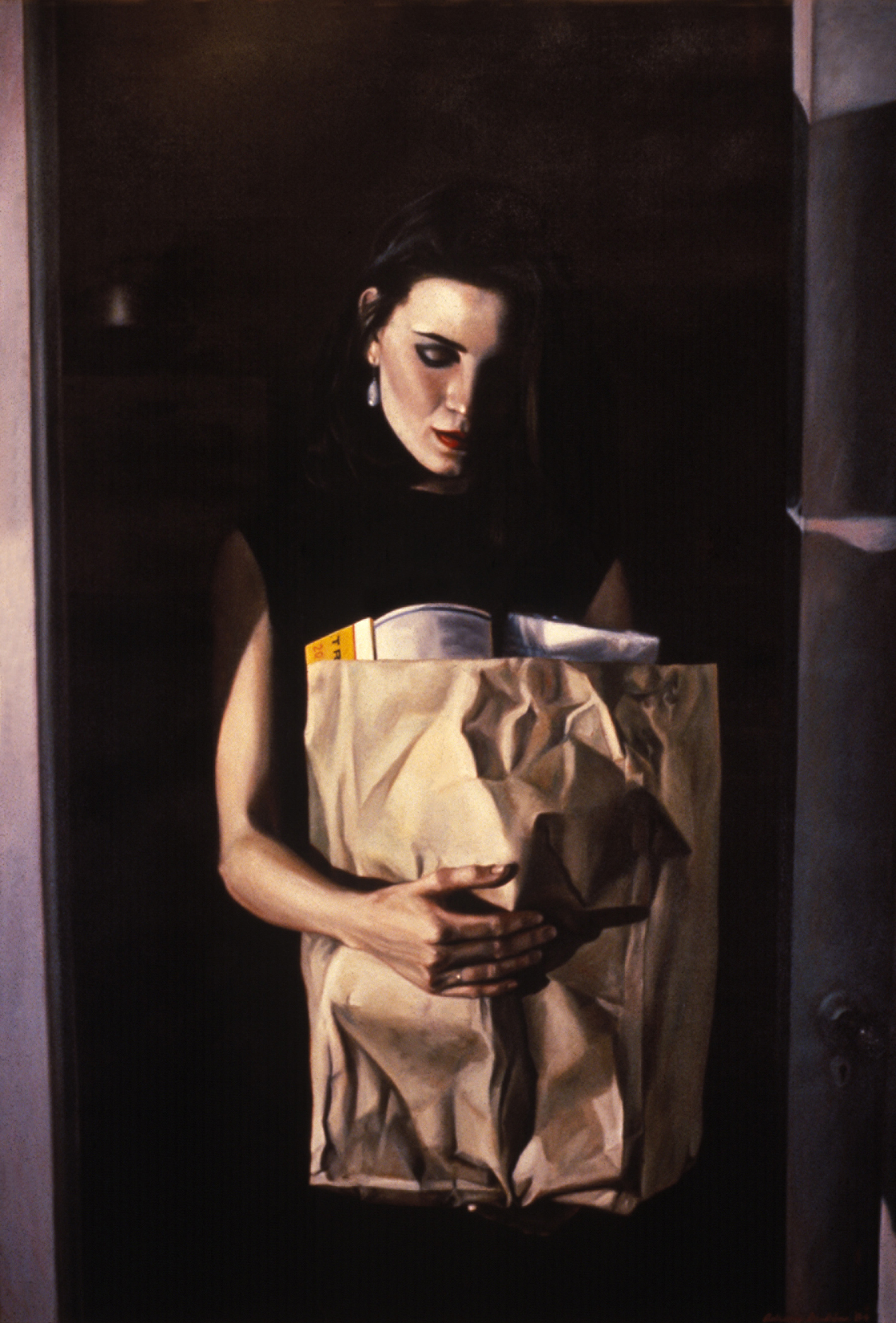 "Madonna With Groceries , oil, 48"" x 32"", 1984"