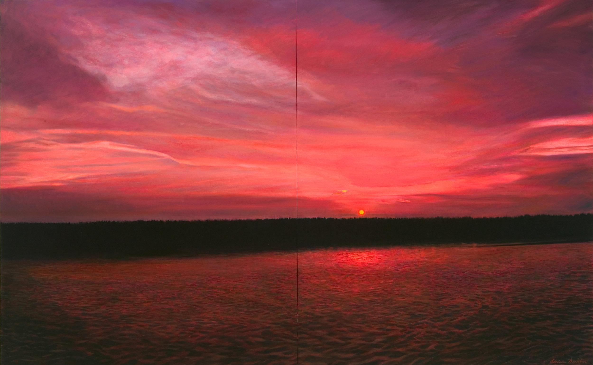 "Lake Meets Sea , oil, 66"" x 96"", 2007"