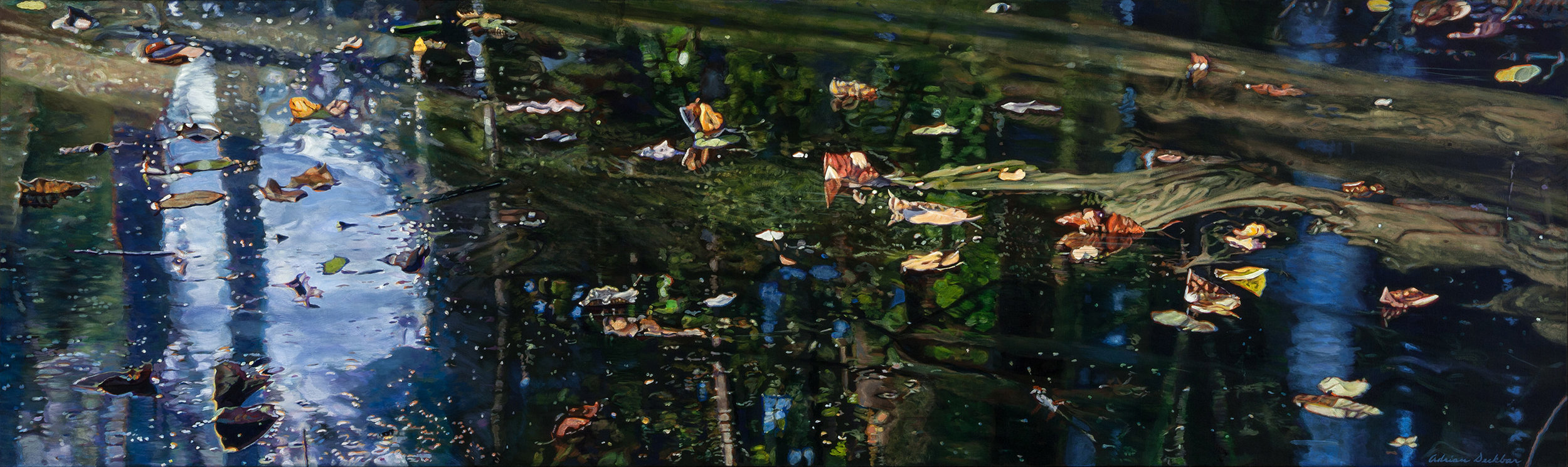 "Surface Depth V , acrylic, 24"" x 80"", 2013"