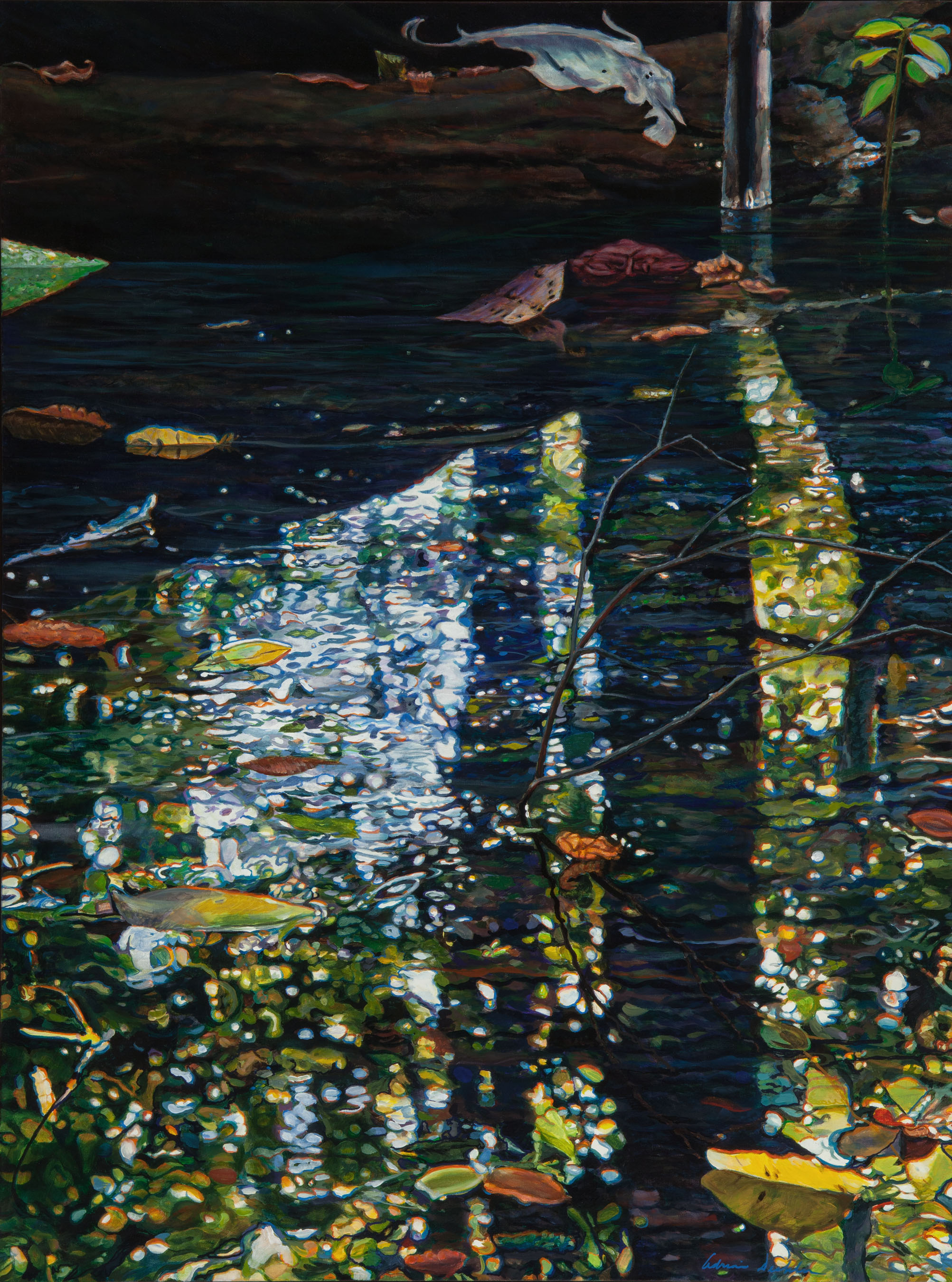 "The Depth: Reflected , acrylic, 48"" x 36"", 2011"