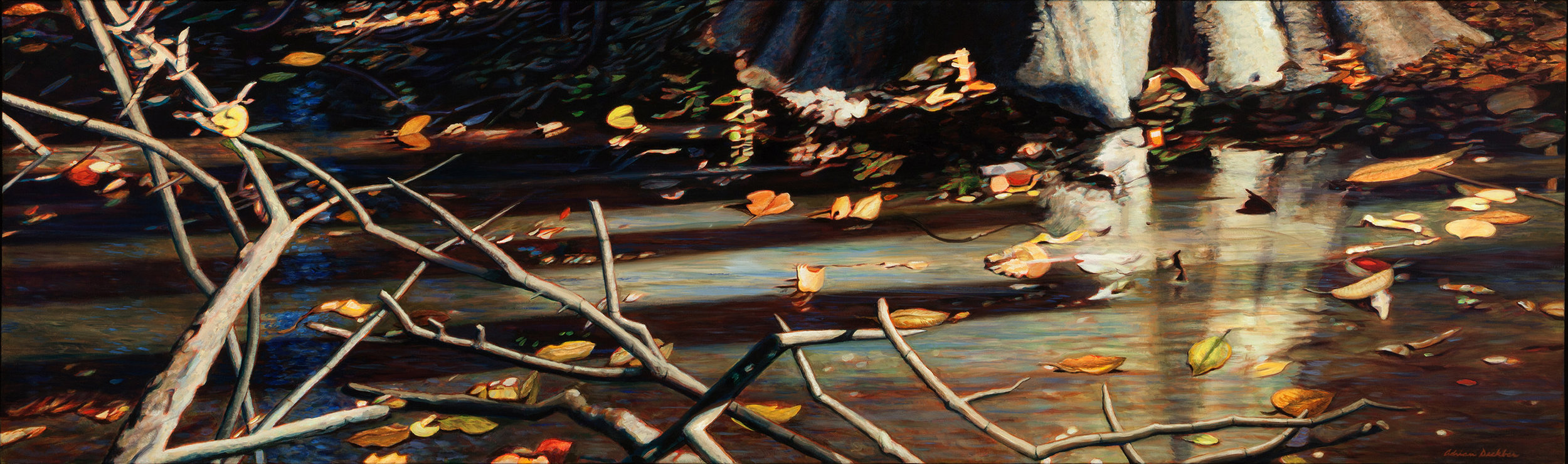 "Transition , acrylic, 24"" x 86"", 2013"