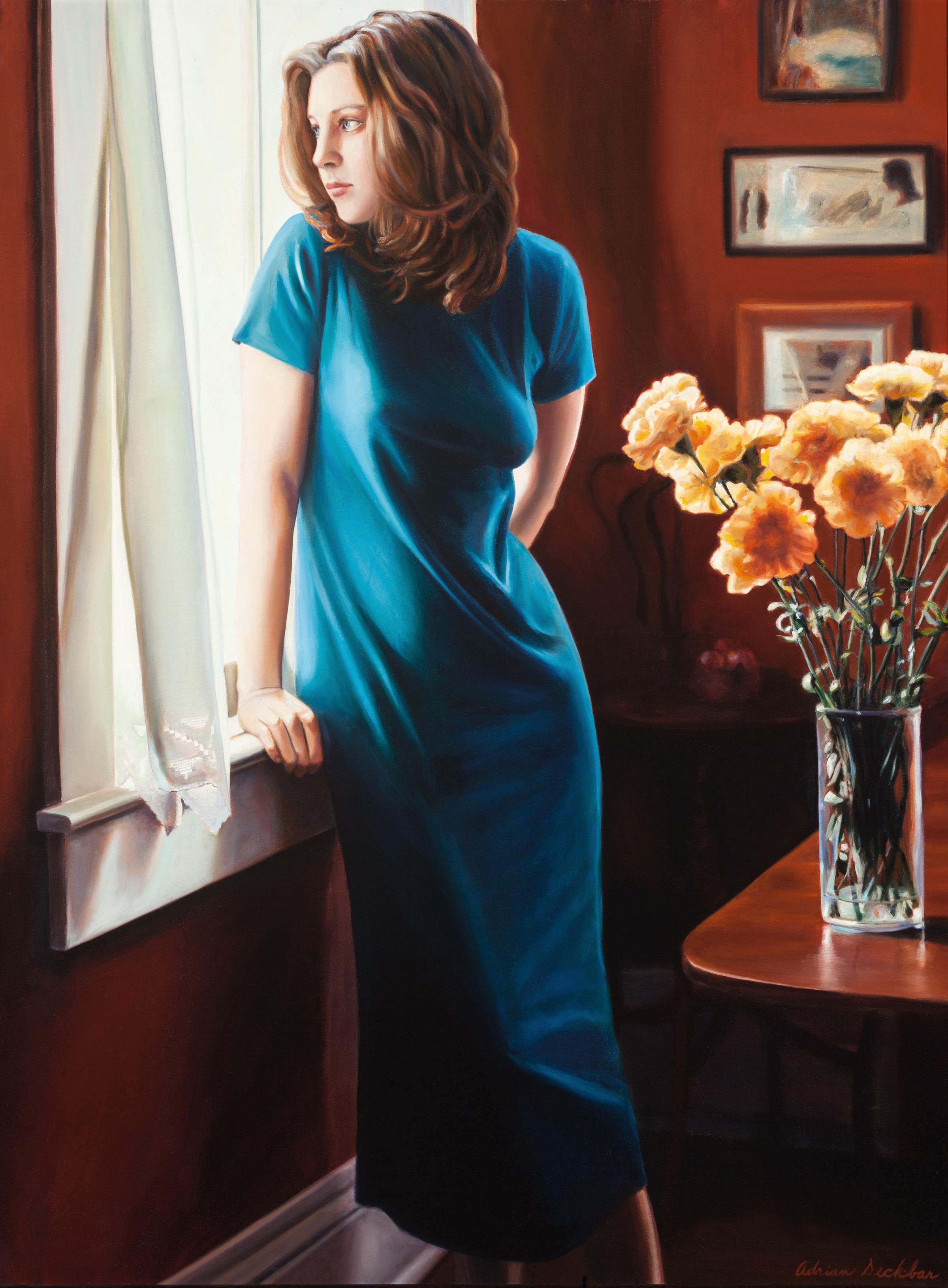 "The Window #11 , oil, 39"" x 31"", 2001"