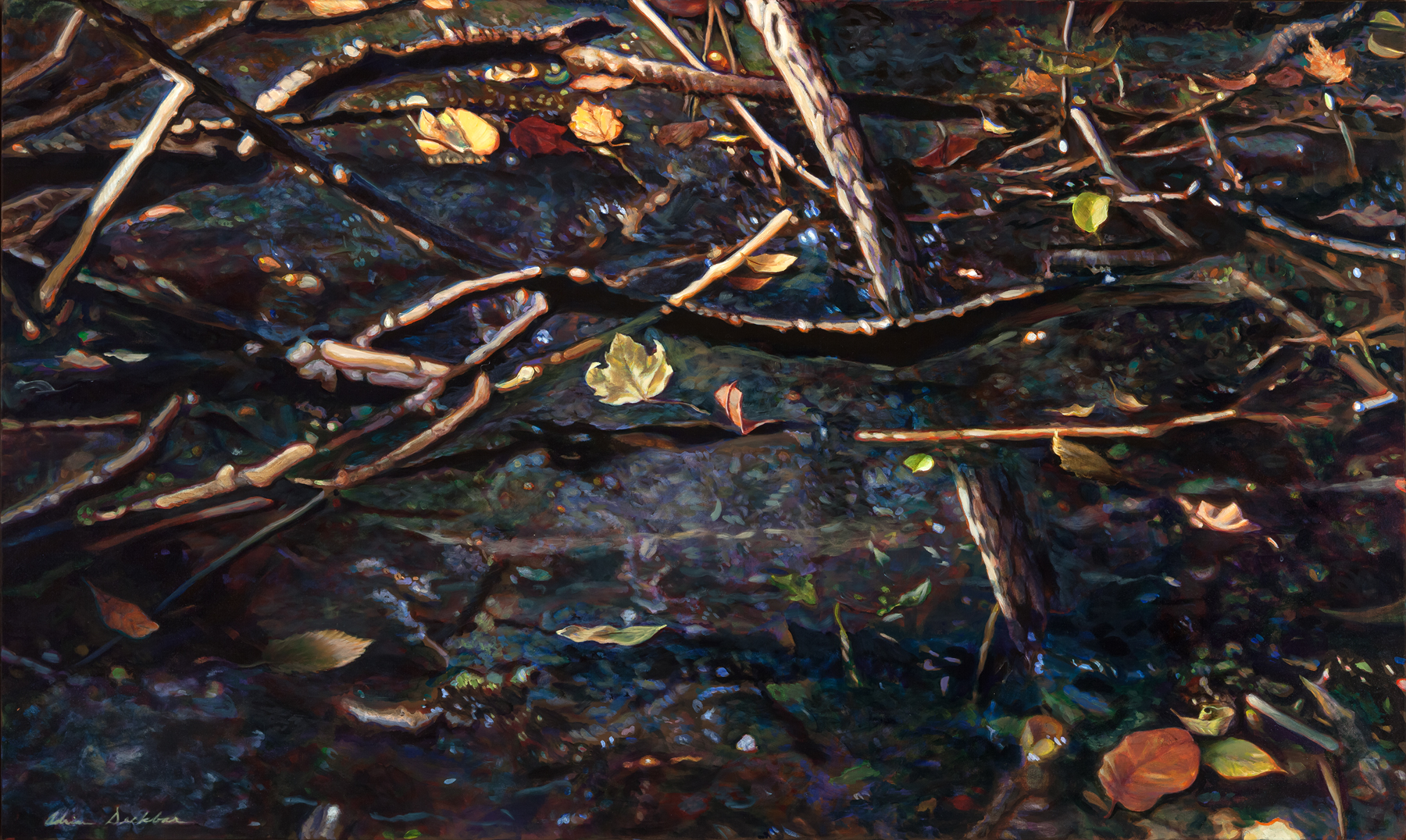 "Undertow , acrylic, 36"" x 60"", 2016"