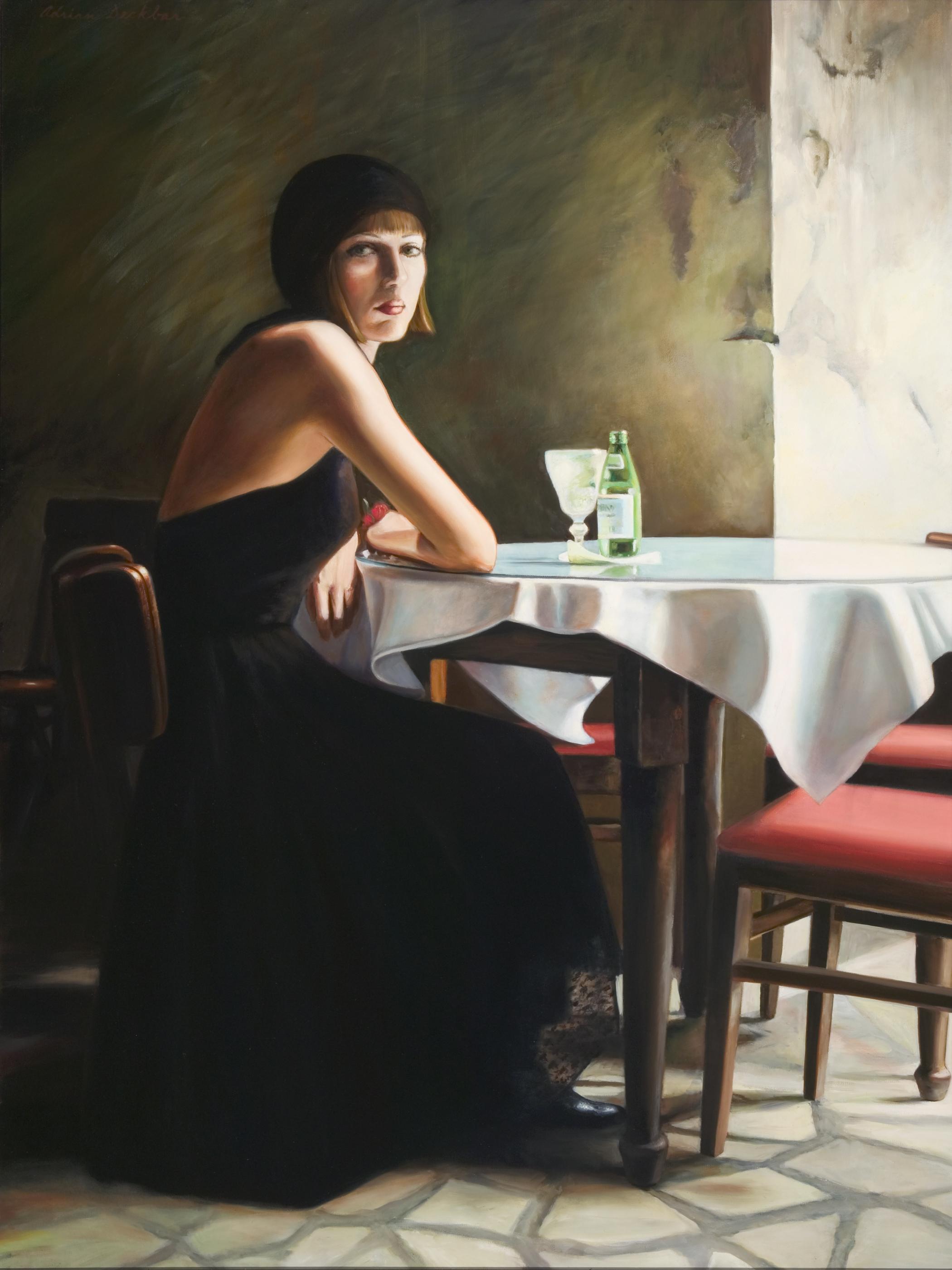 "French Quarter Cafe , oil, 48"" x 36"", 2001"