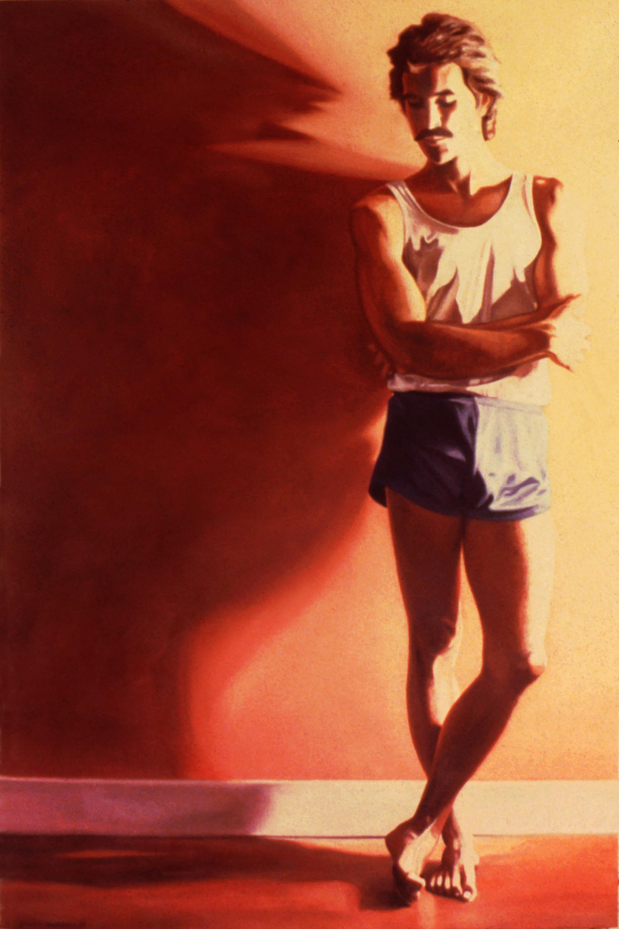"""Glenn , oil, 72"""" x 48"""", 1983"""