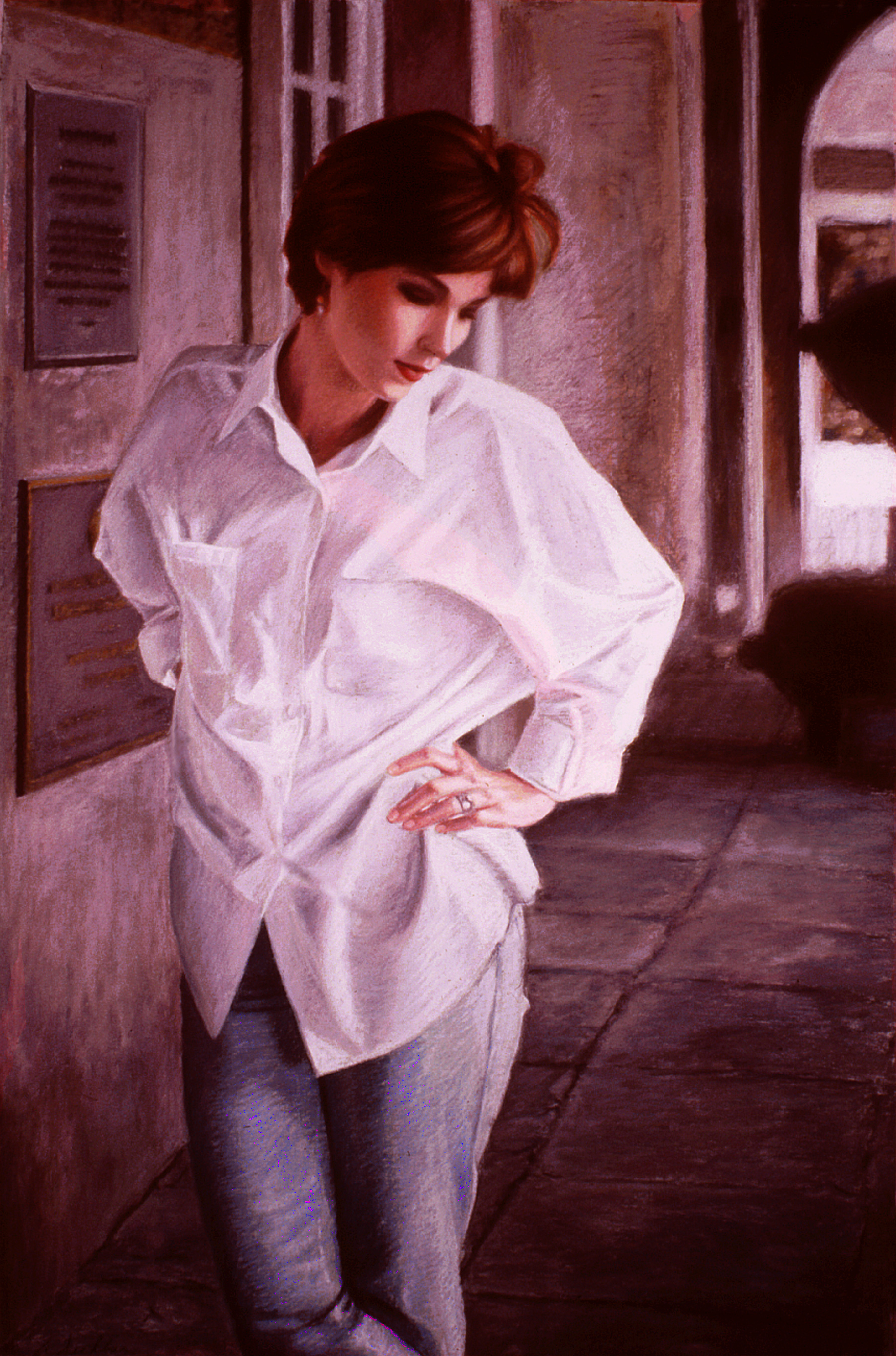 """Kim , pastel, 36"""" x 24"""", 1998"""
