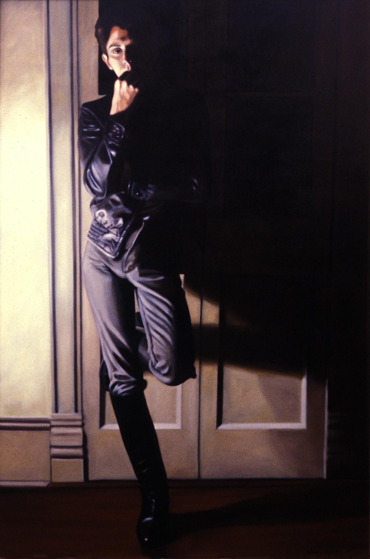 """Skip , oil, 72"""" x 48"""", 1982"""
