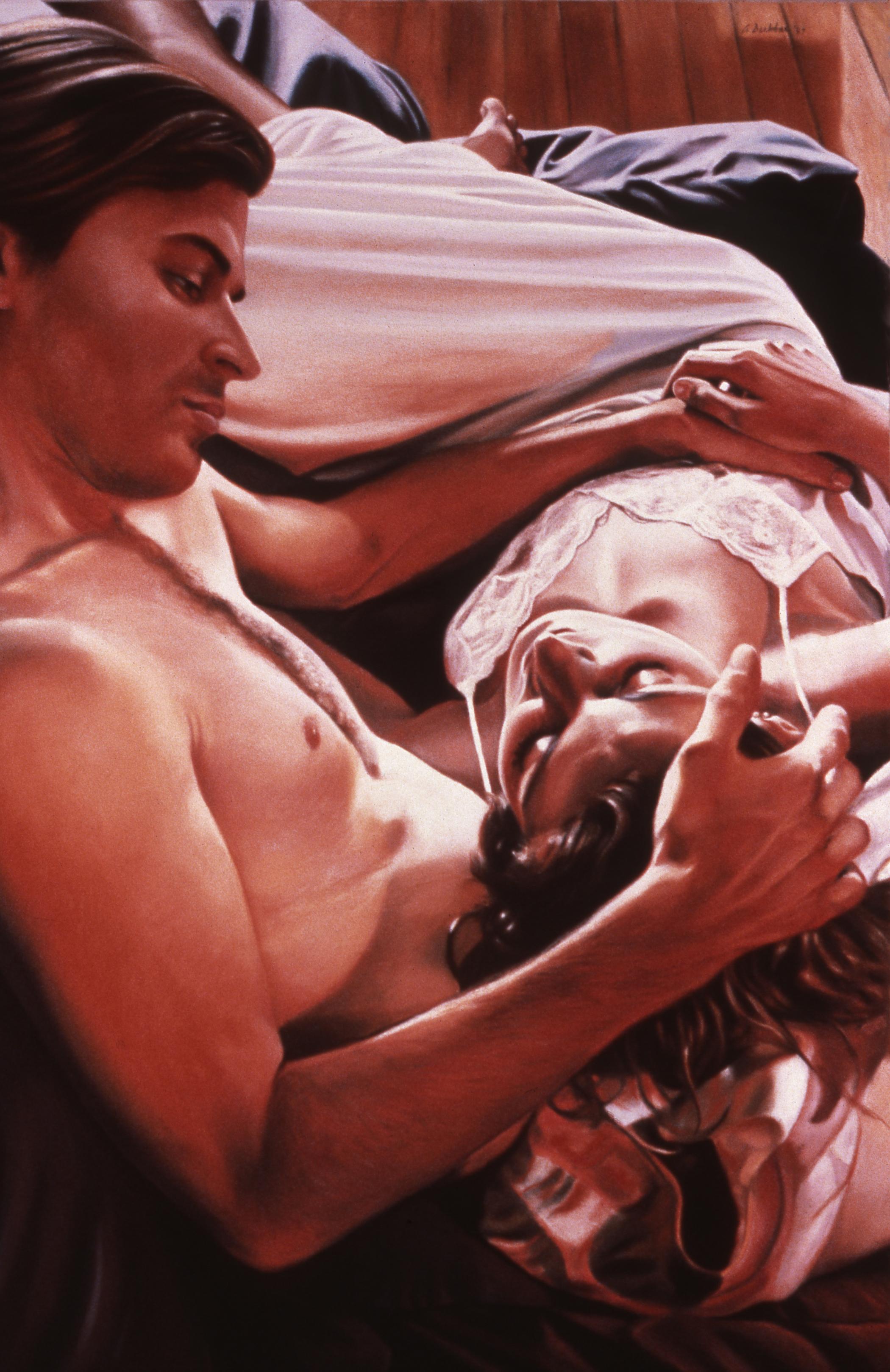 "Intimacies III , pastel, 48"" x 32"", 1989"
