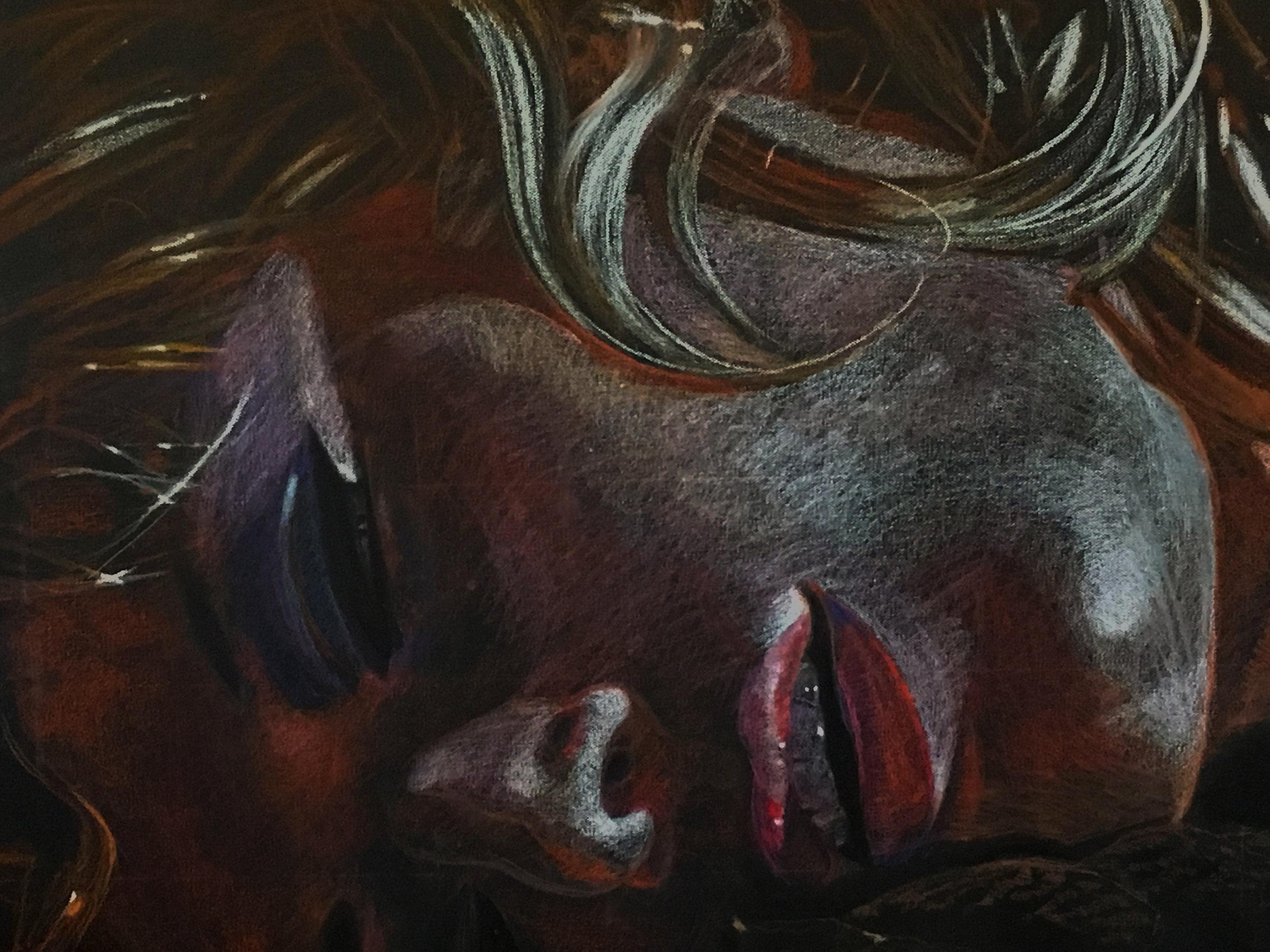 "MM: Detail Study , pastel pencil, 23"" x 37"", 2019"