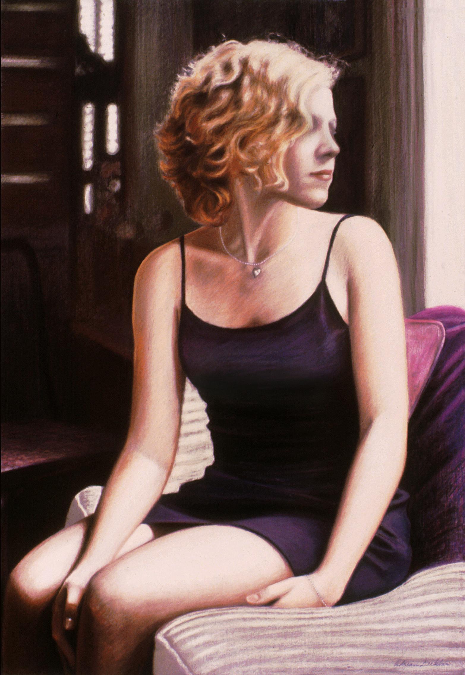 "The Window Seat , pastel, 44"" x 30"", 1996"