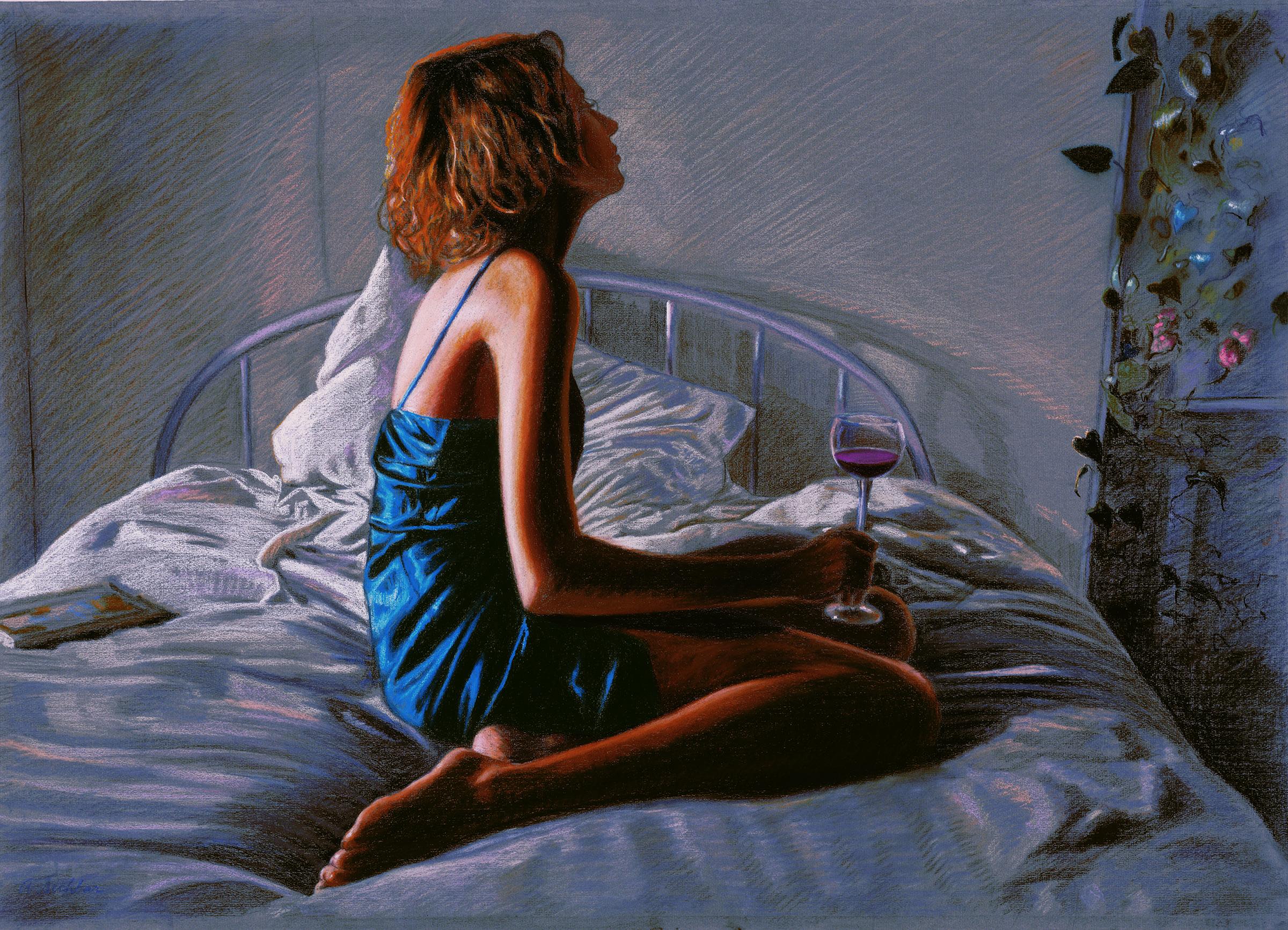 "Darkness/Light #2 , pastel, 29"" x 42"", 1999"