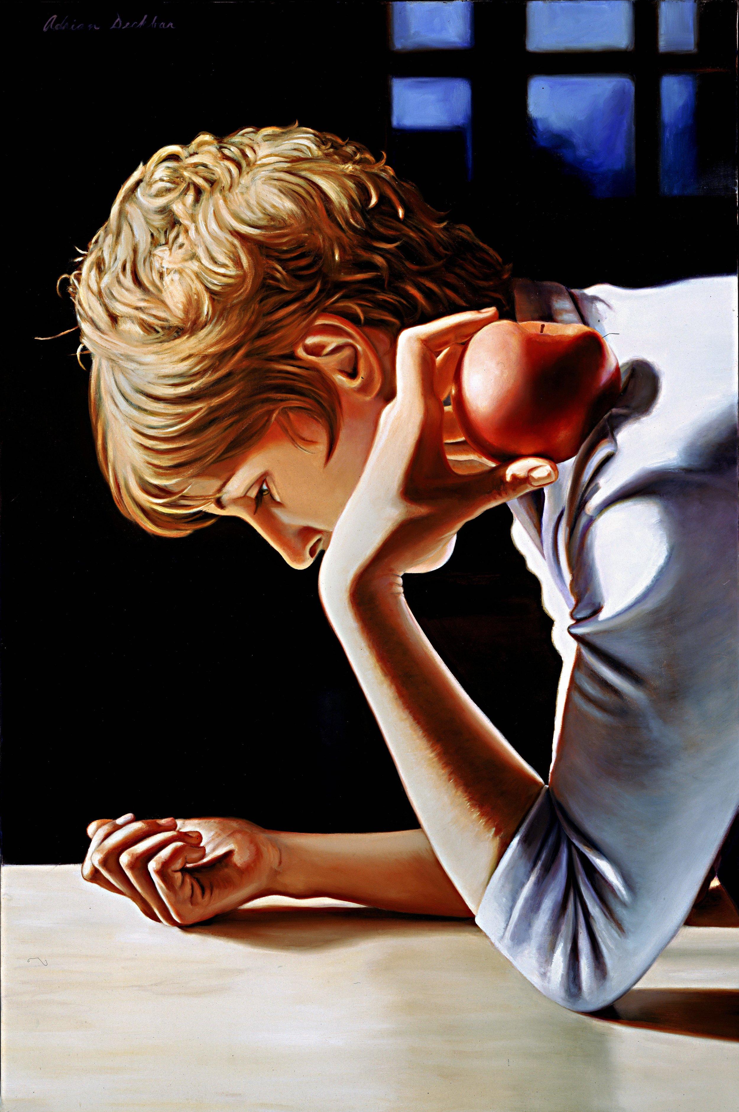 "Daydreamer , oil, 29"" x 22"", 2002"
