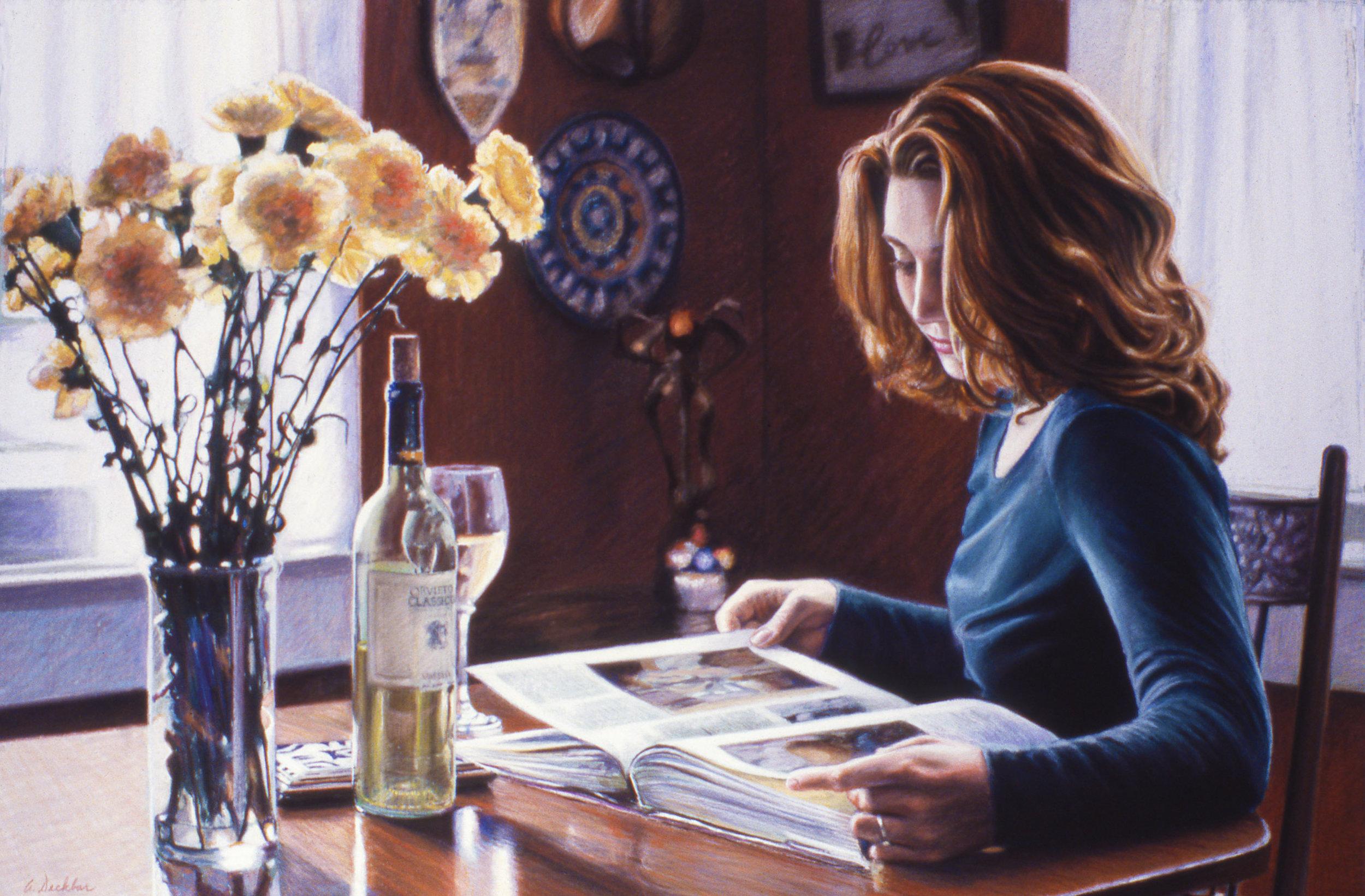 "Italian Hours , pastel, 24"" x 39"", 1999"