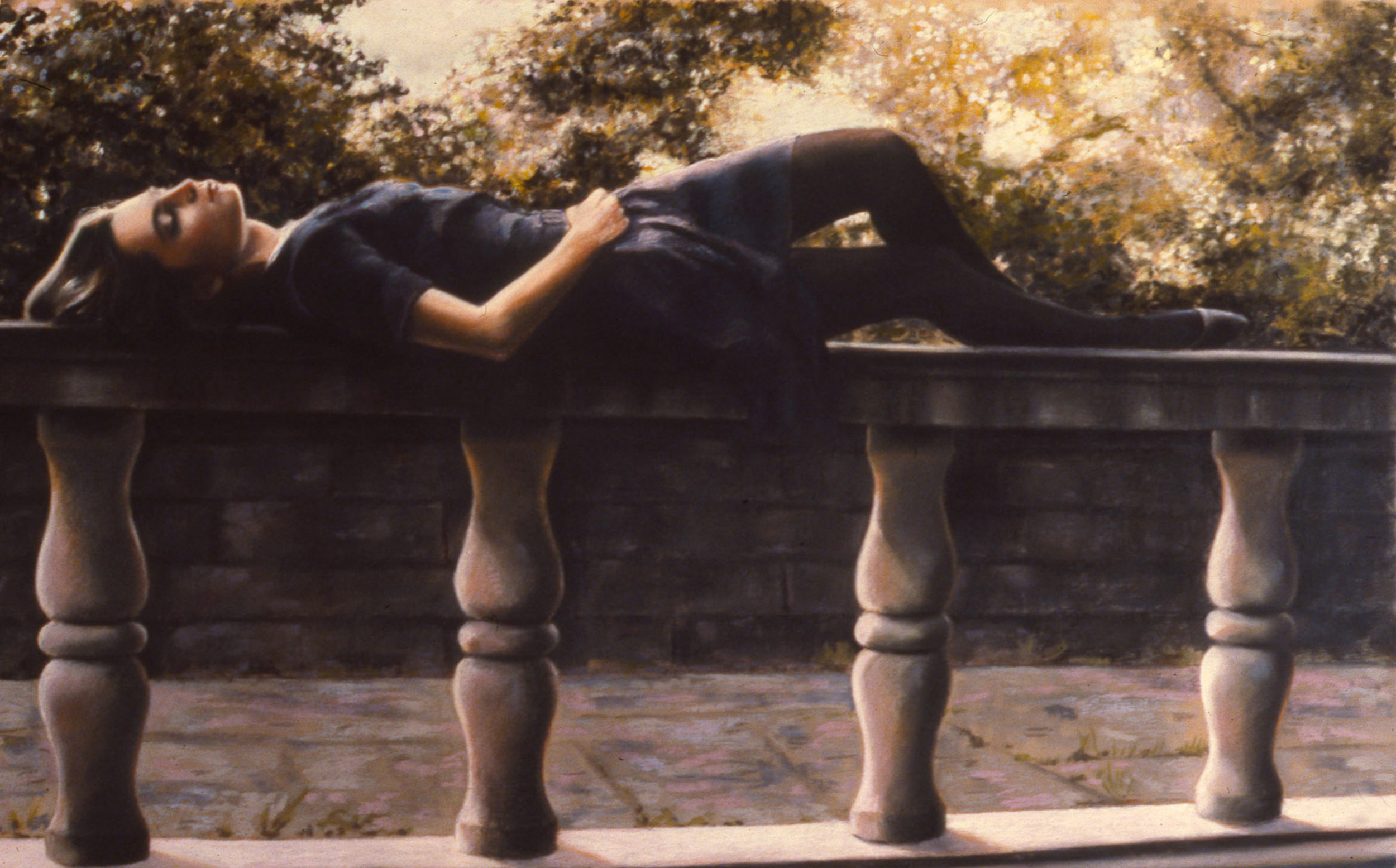 "Annabelle , pastel, 22"" x 29"", 1988"
