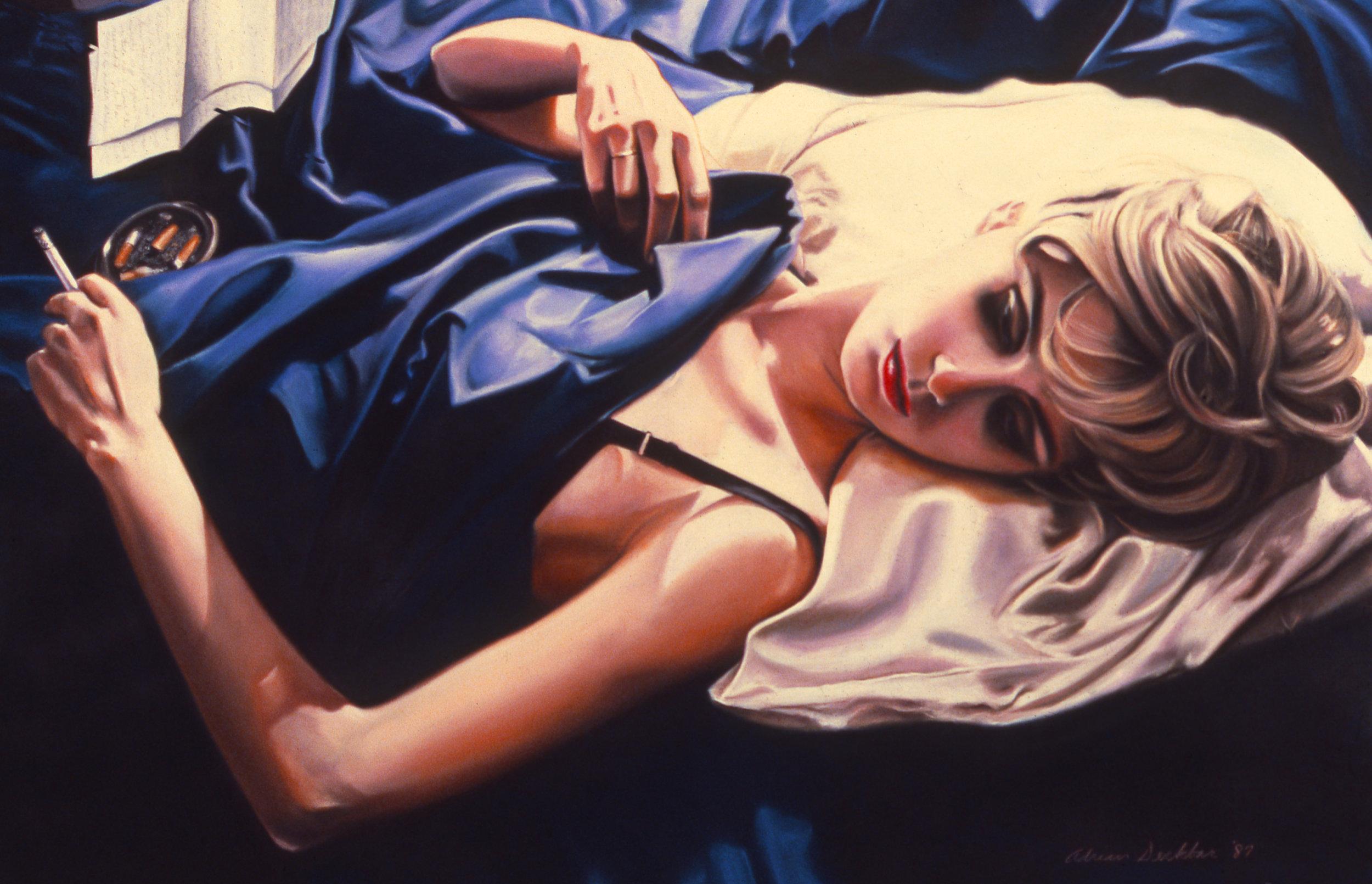 "Scene II: The Letter , pastel, 39.5"" x 58"", 1987"