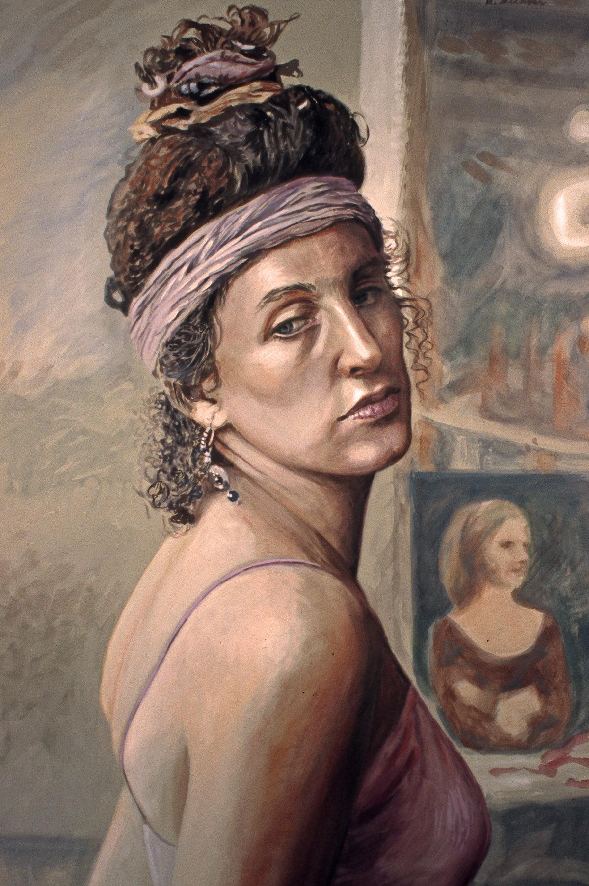 """Pompeian Headdress , gouache, 30"""" x 20"""", 1993"""