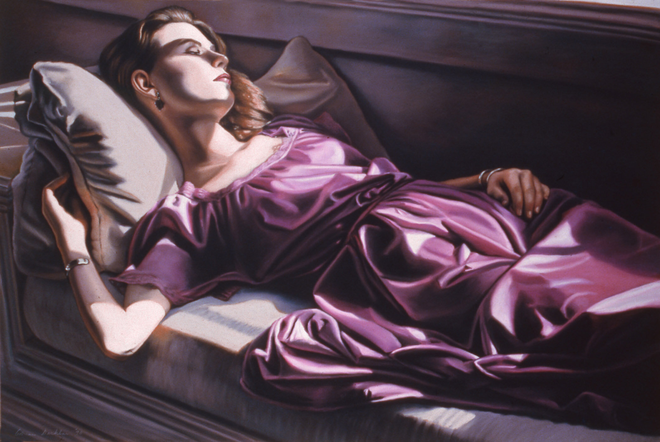 """Inside III , pastel, 39"""" x 59"""", 1990"""