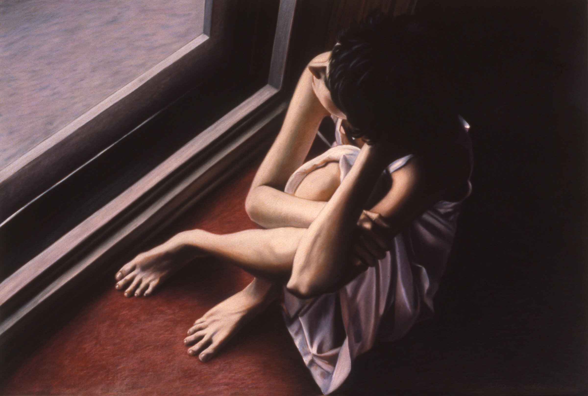 """Figure in Window , pastel, 29"""" x 41"""", 1988"""