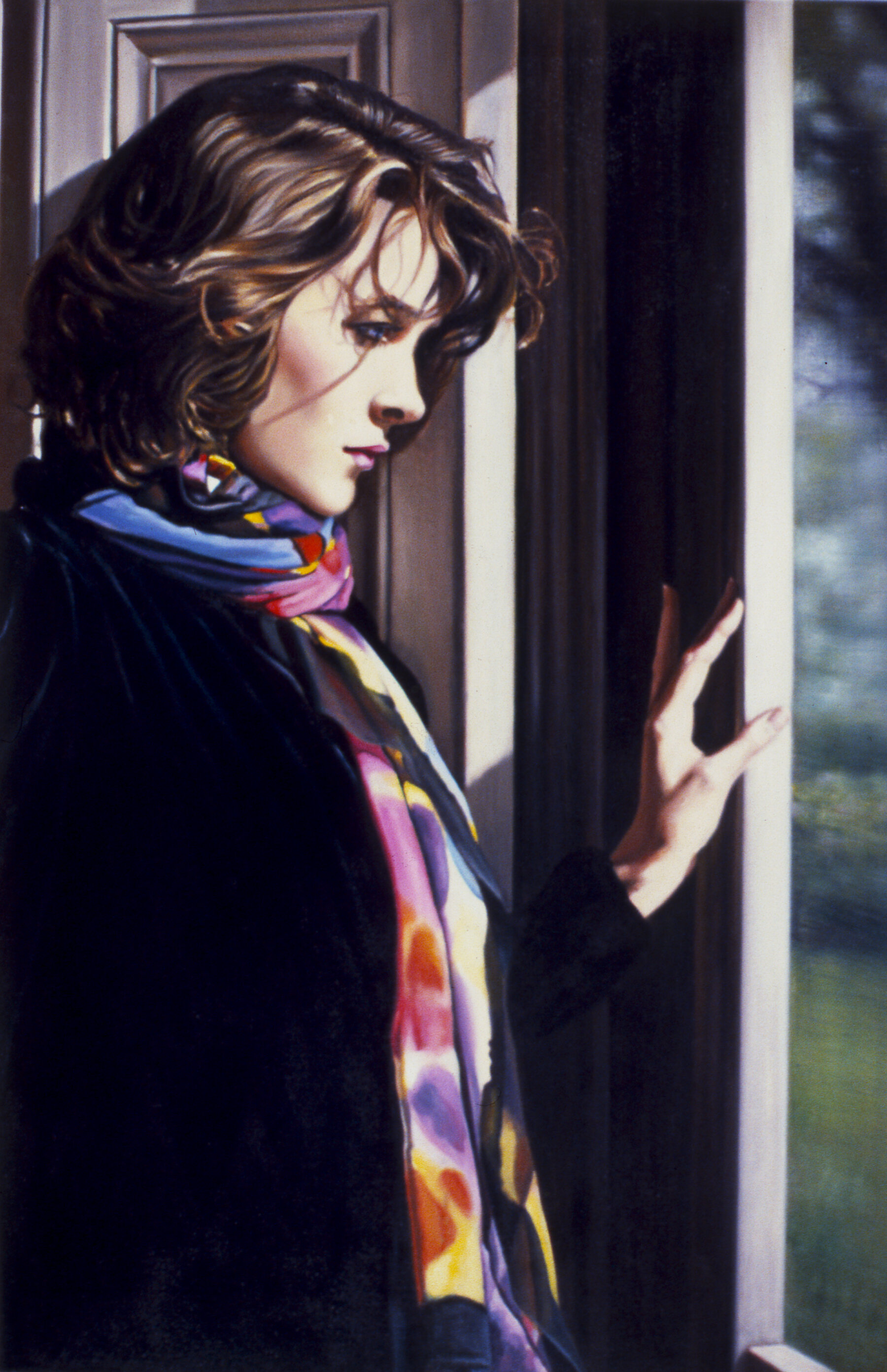 "The Window , pastel, 30"" x 20"", 1988"