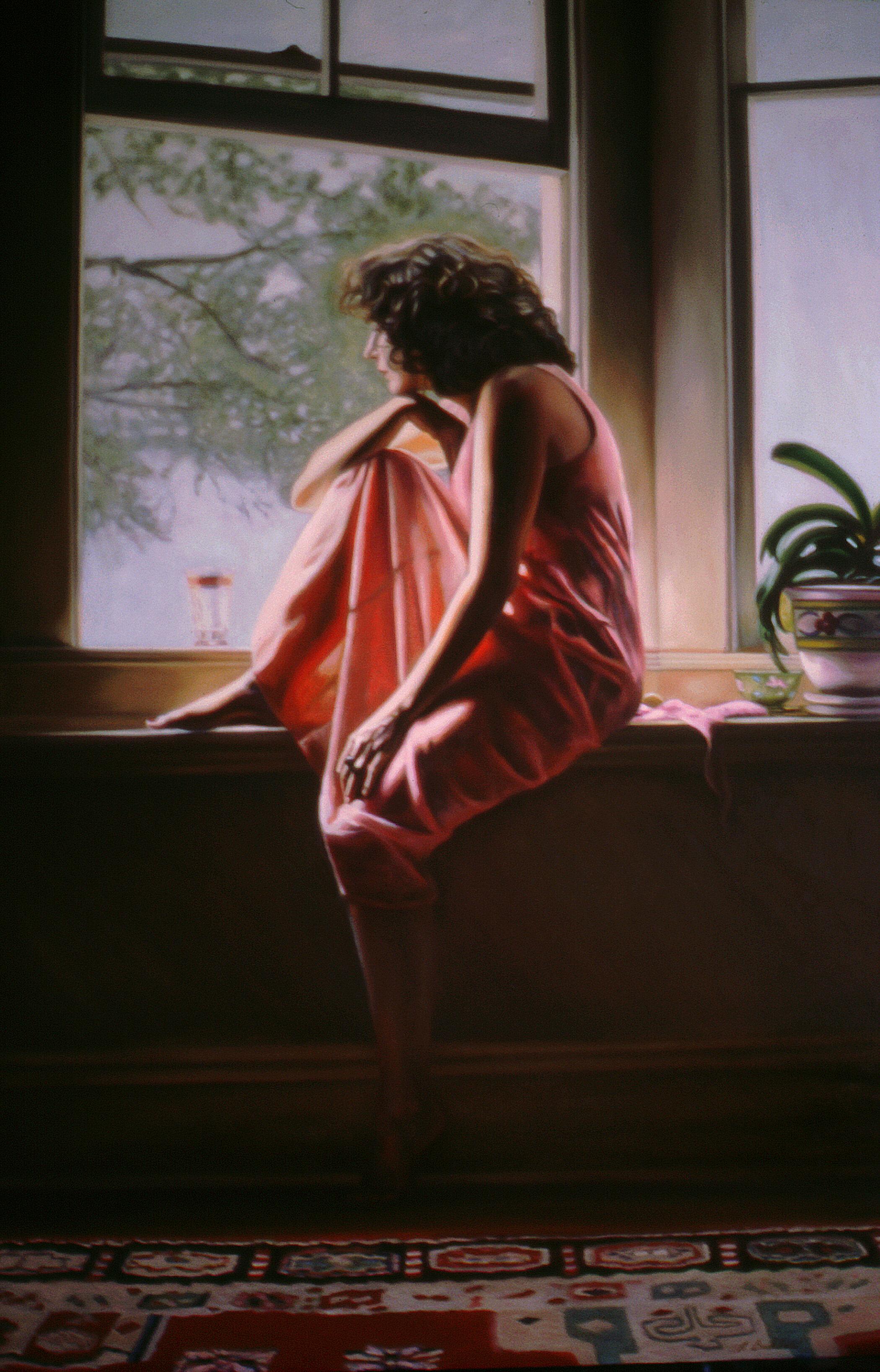 "The Window #9 , oil, 48"" x 36"", 1999"