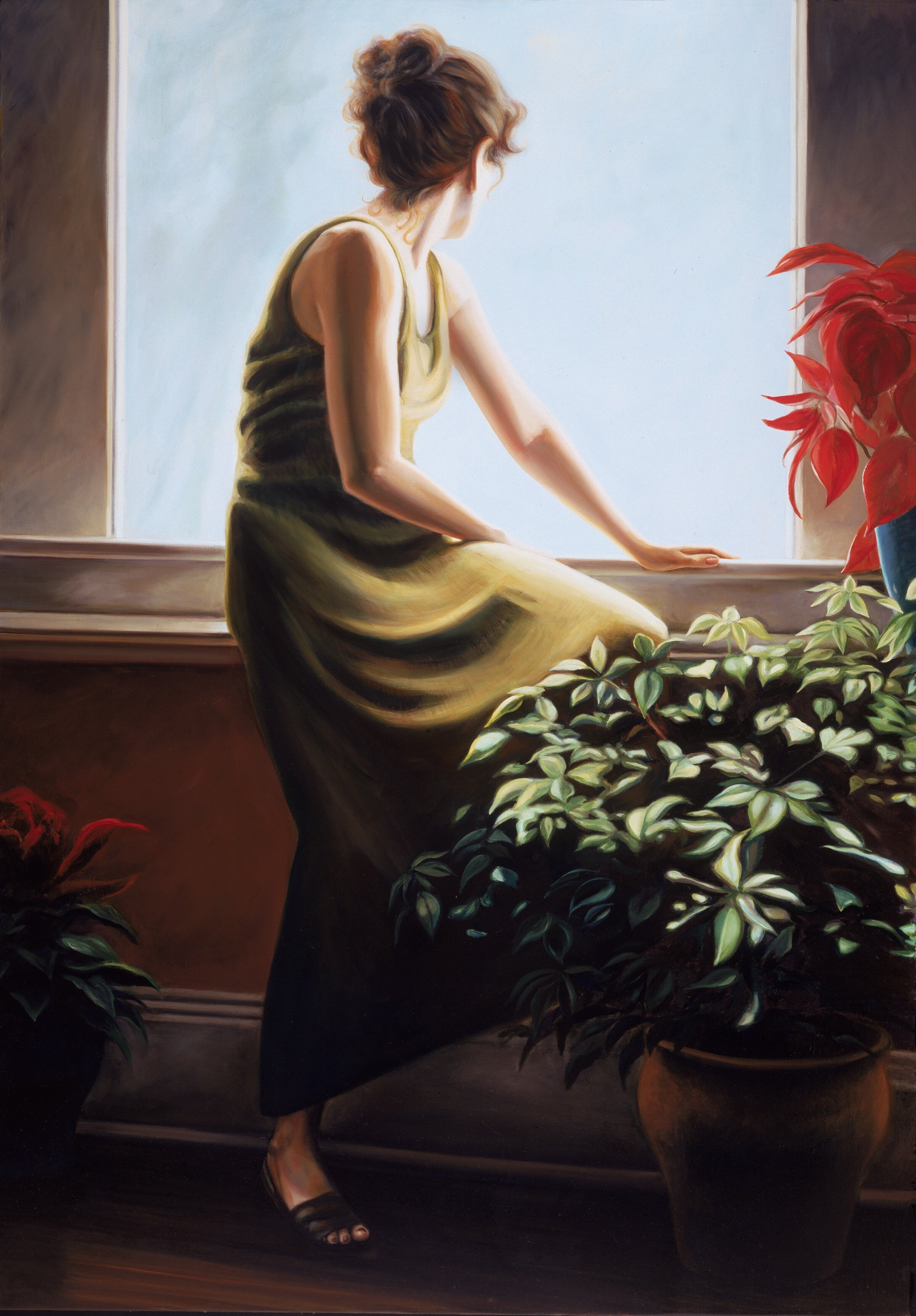 "The Window III , oil, 48"" x 36"", 1995"