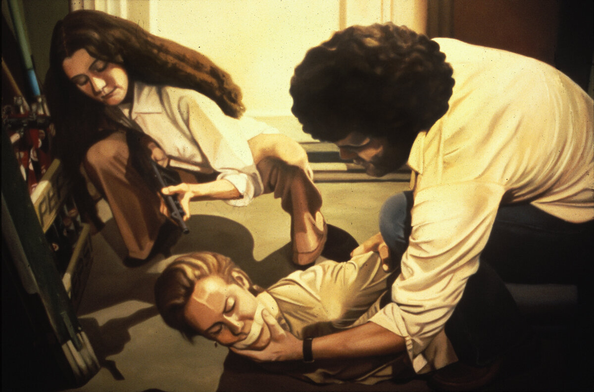 """Kidnap! I , oil on canvas, 48"""" x 76"""", 1979"""
