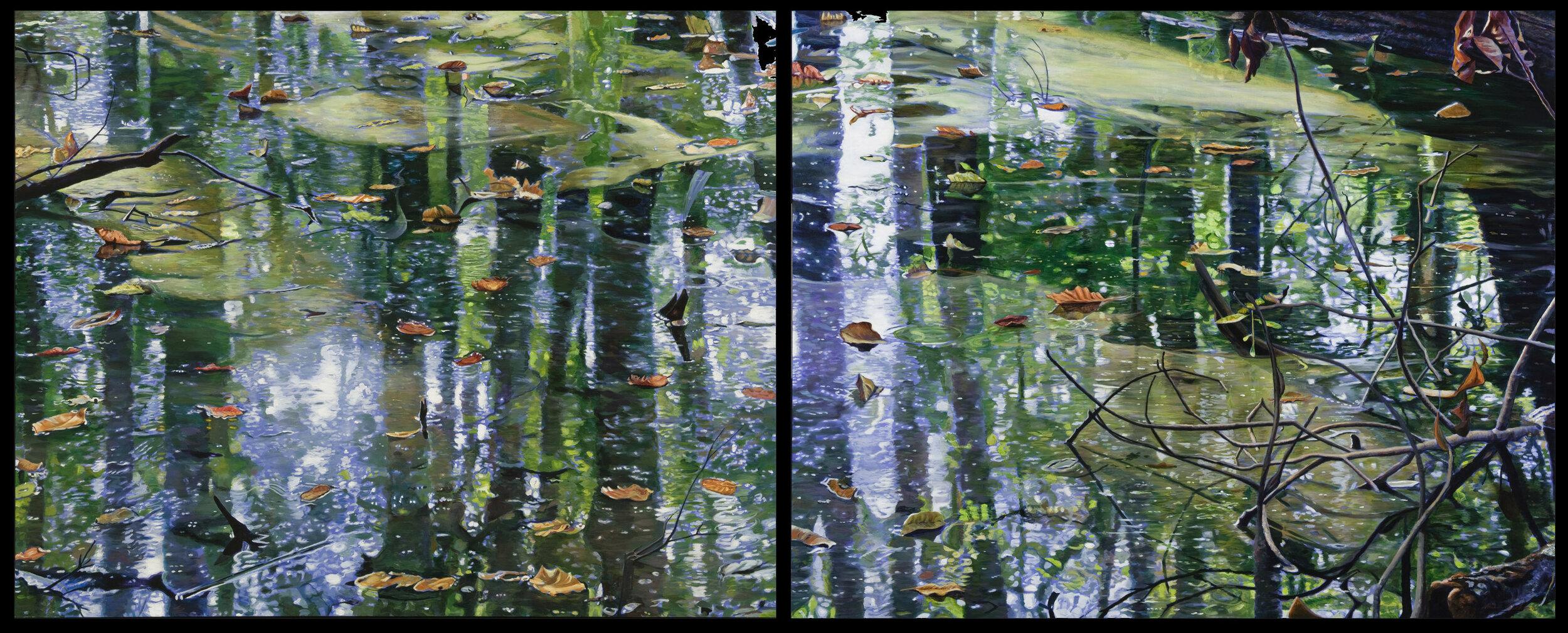 "Water's Edge I and II,  48"" x 122"""
