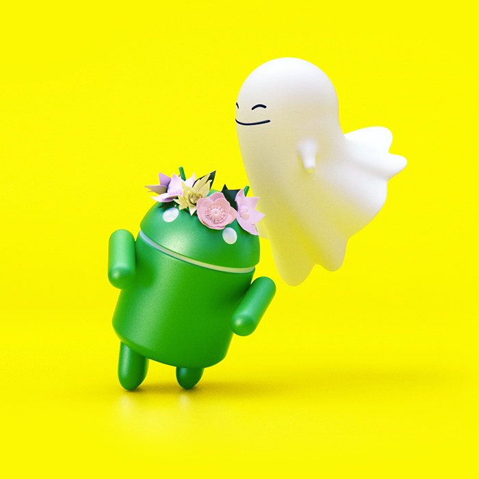 To Android, Love Snapchat. - Snapchat 💛👻 | art direction & branding