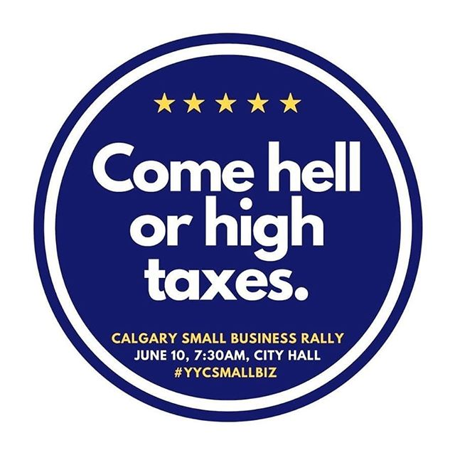 Are you ready to stand for your business? Get your badge, raise your voice, join us tomorrow June 10, 7:30 AM at Calgary City Hall  #calgary #yyc  www.yycsmallbiz.com