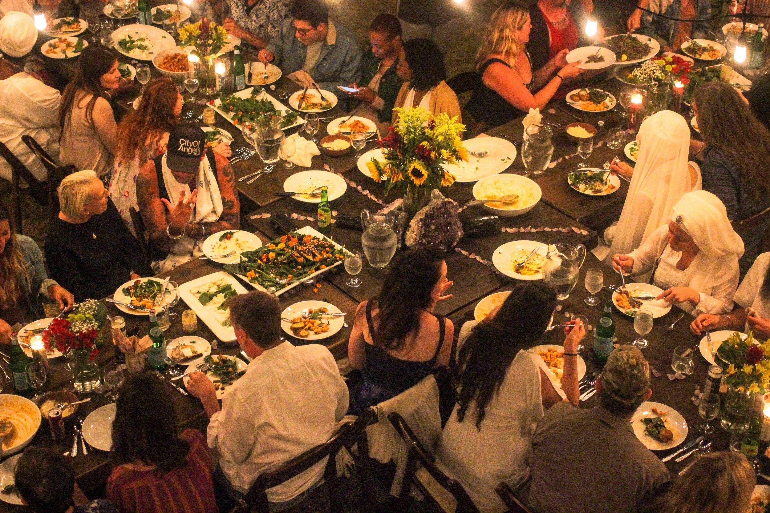 Guru Jagat's Birthday Dinner, Los Angeles, August, 2018