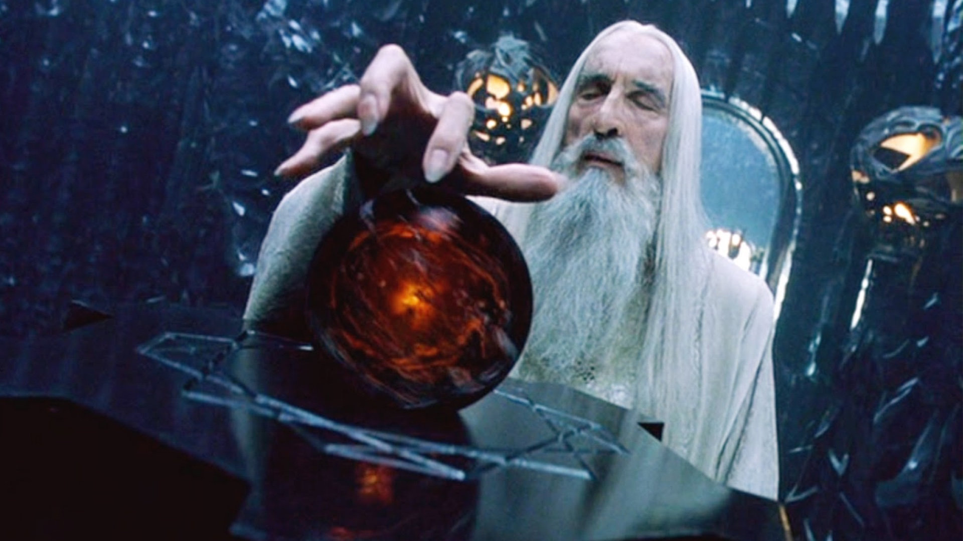Christopher Lee as Saruman - LOTR