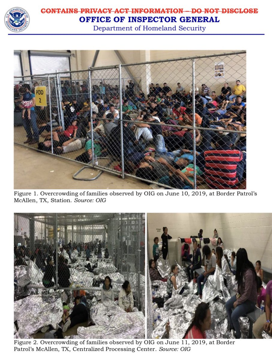 Office of the Inspector General releases new pictures of overcrowding at Border Patrol Facilities in TX.
