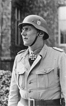 """Skorzeny as commander of the SS unit """"Friedenthal"""""""