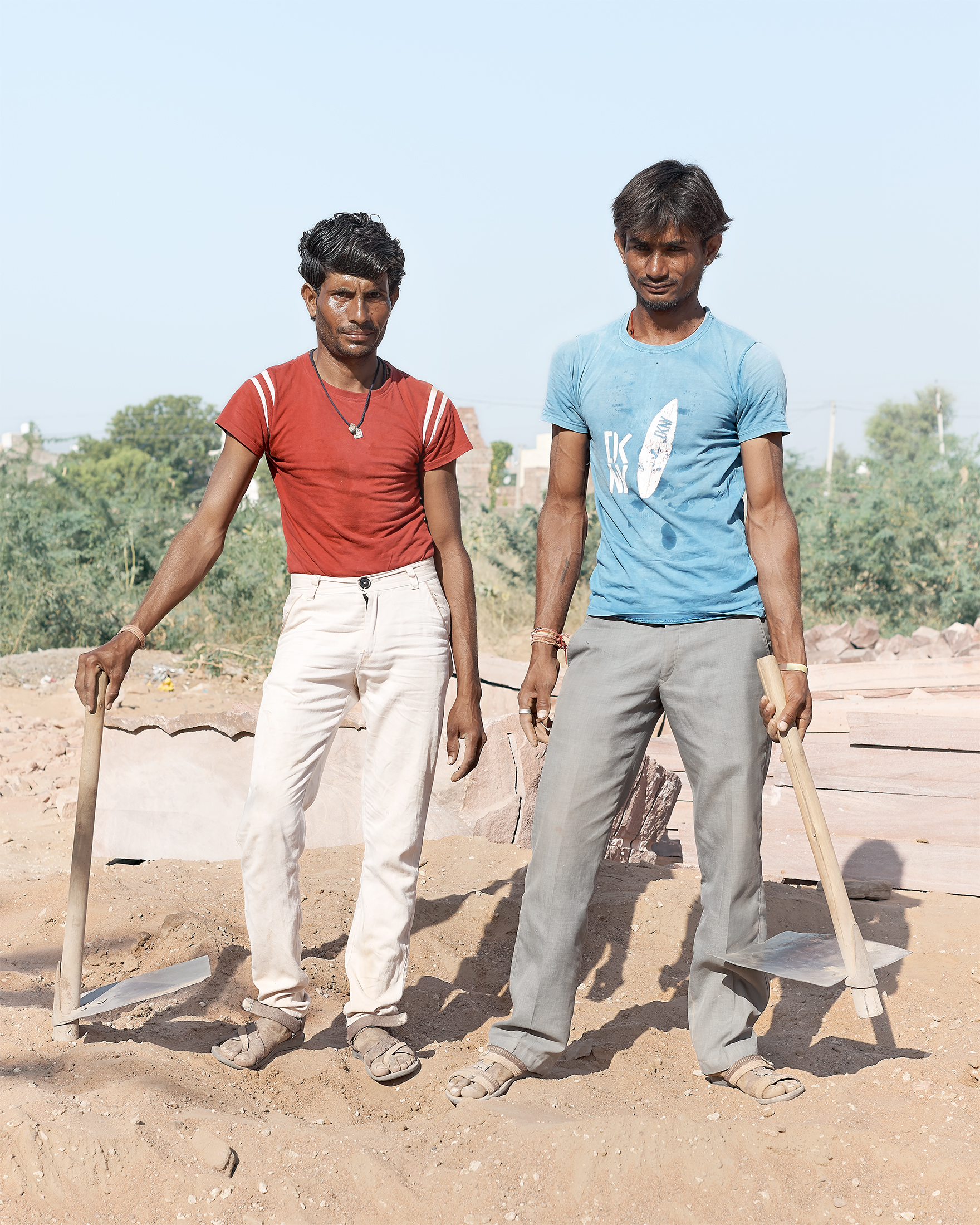 Builders, Osian, India, 2017