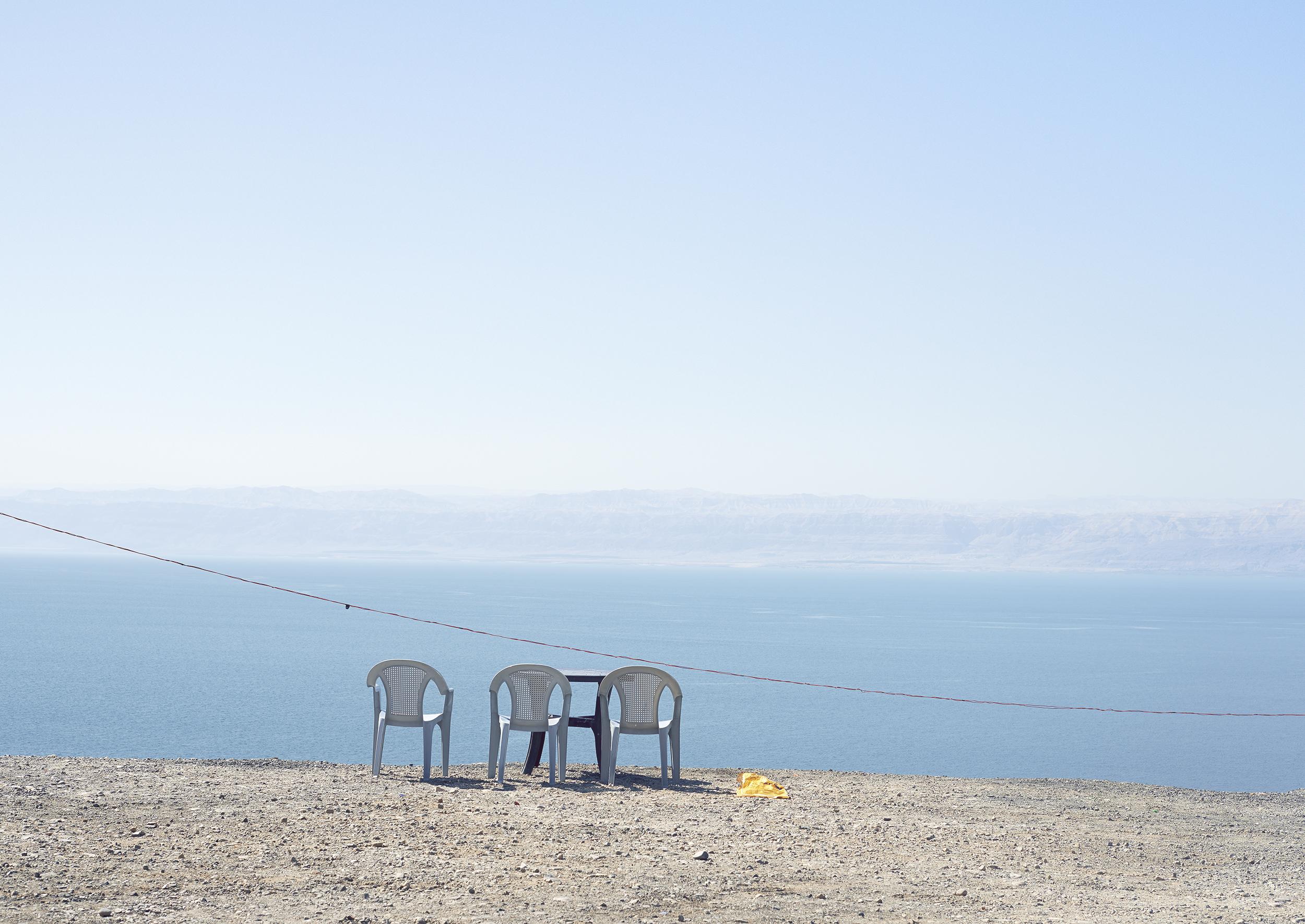 3 chairs, Dead Sea, 2013
