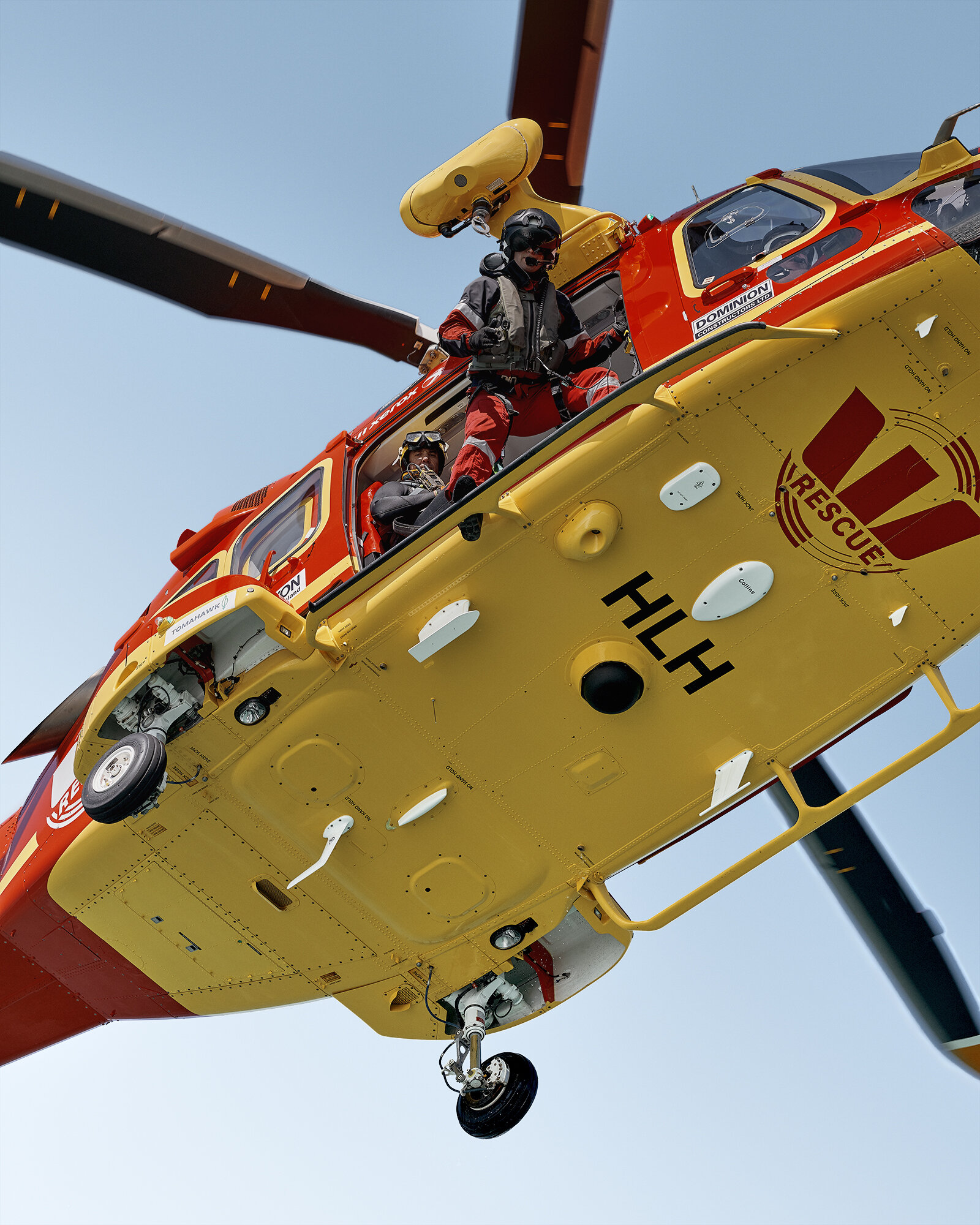 Westpac Rescue Helicopter - Auckland - Series of 13 images