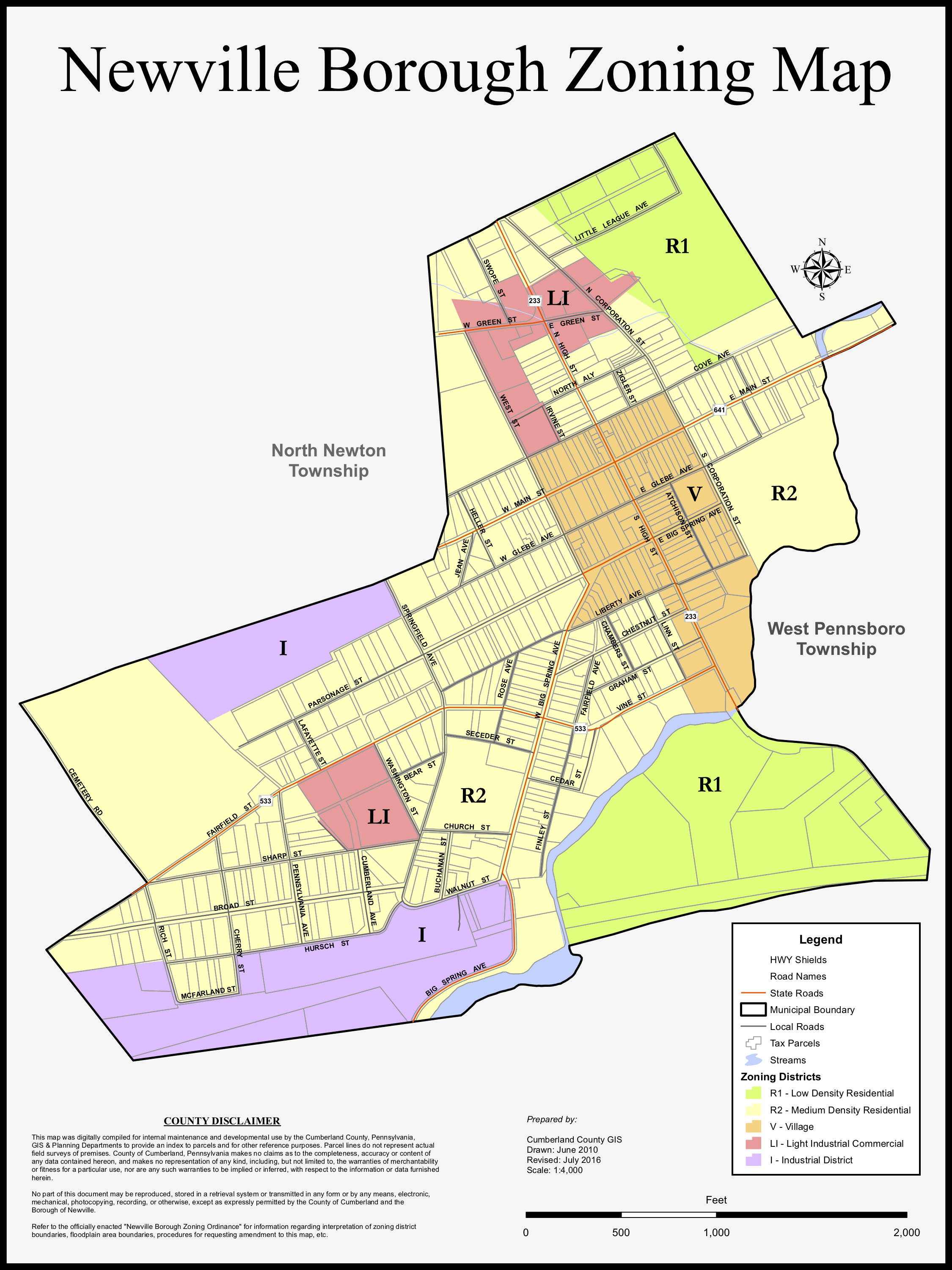 Newville Borough Zoning Map.png